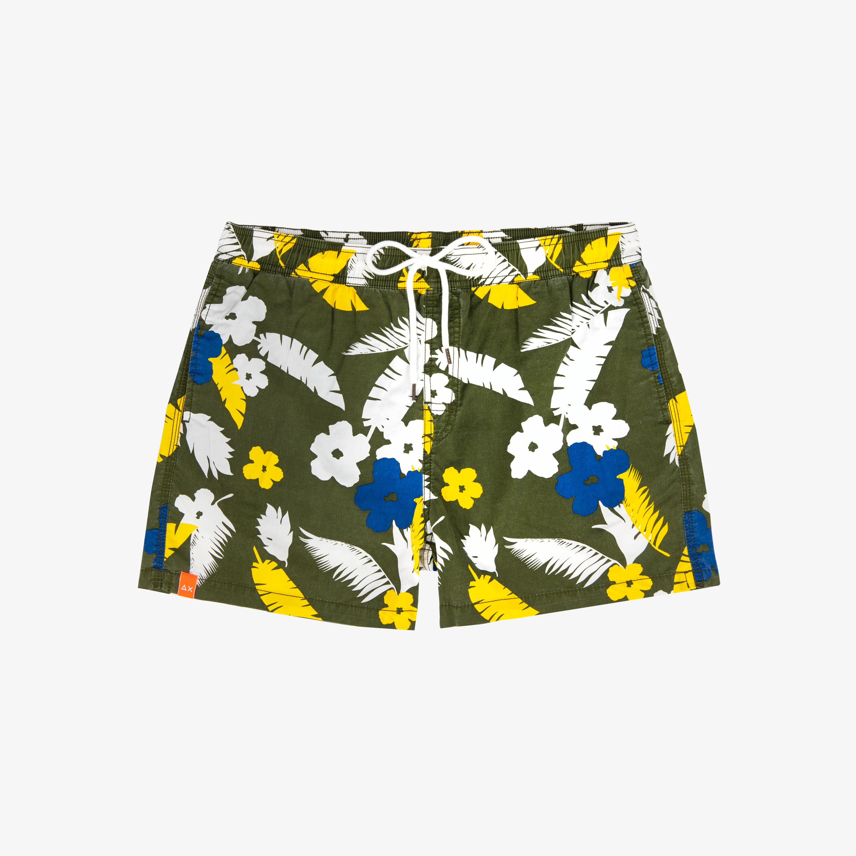 SWIM PANT CLASSIC PRINT MILITARY / YELLOW