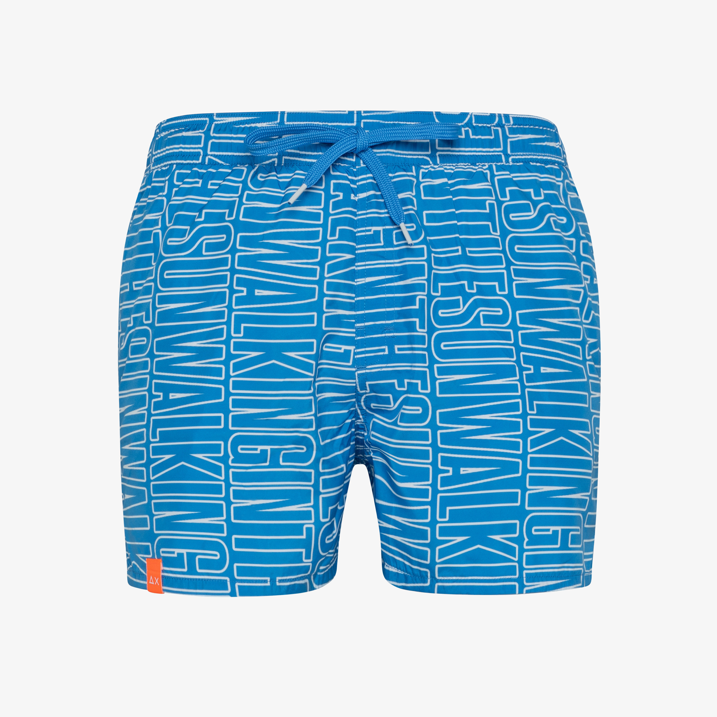 SWIM PANT LETTERING ROYAL