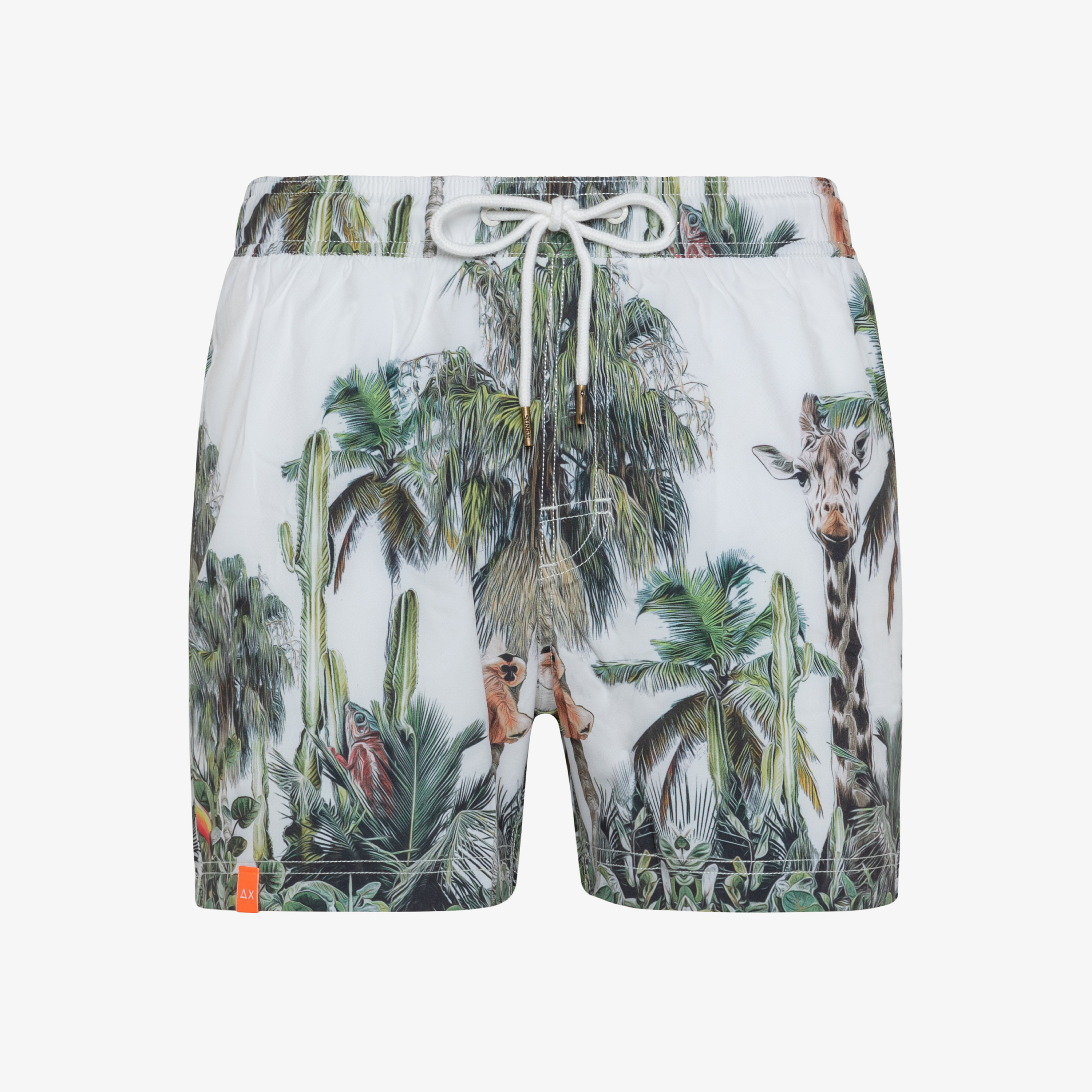 SWIM PANT ANIMAL BIANCO PANNA
