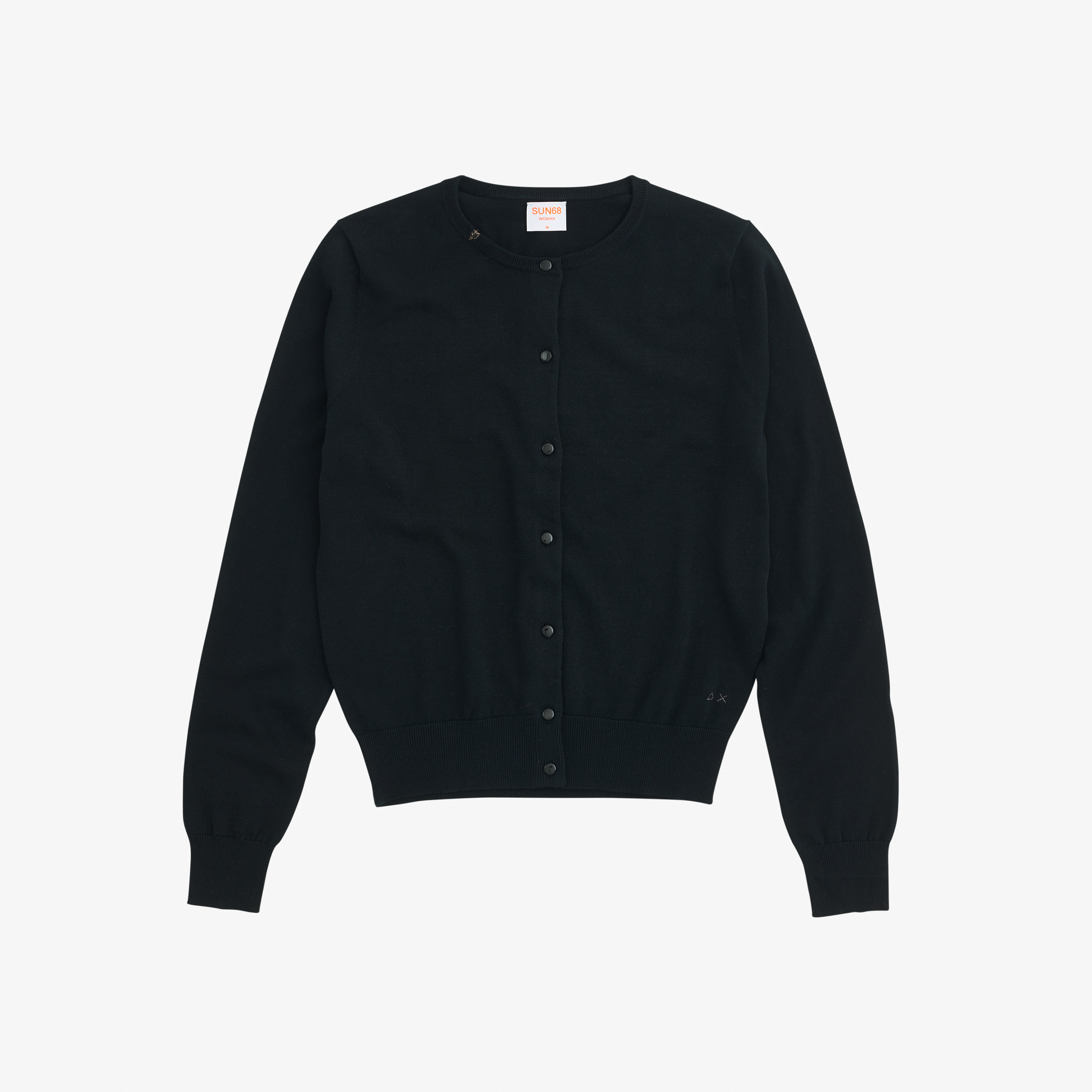 CARDIGAN SOLID NERO