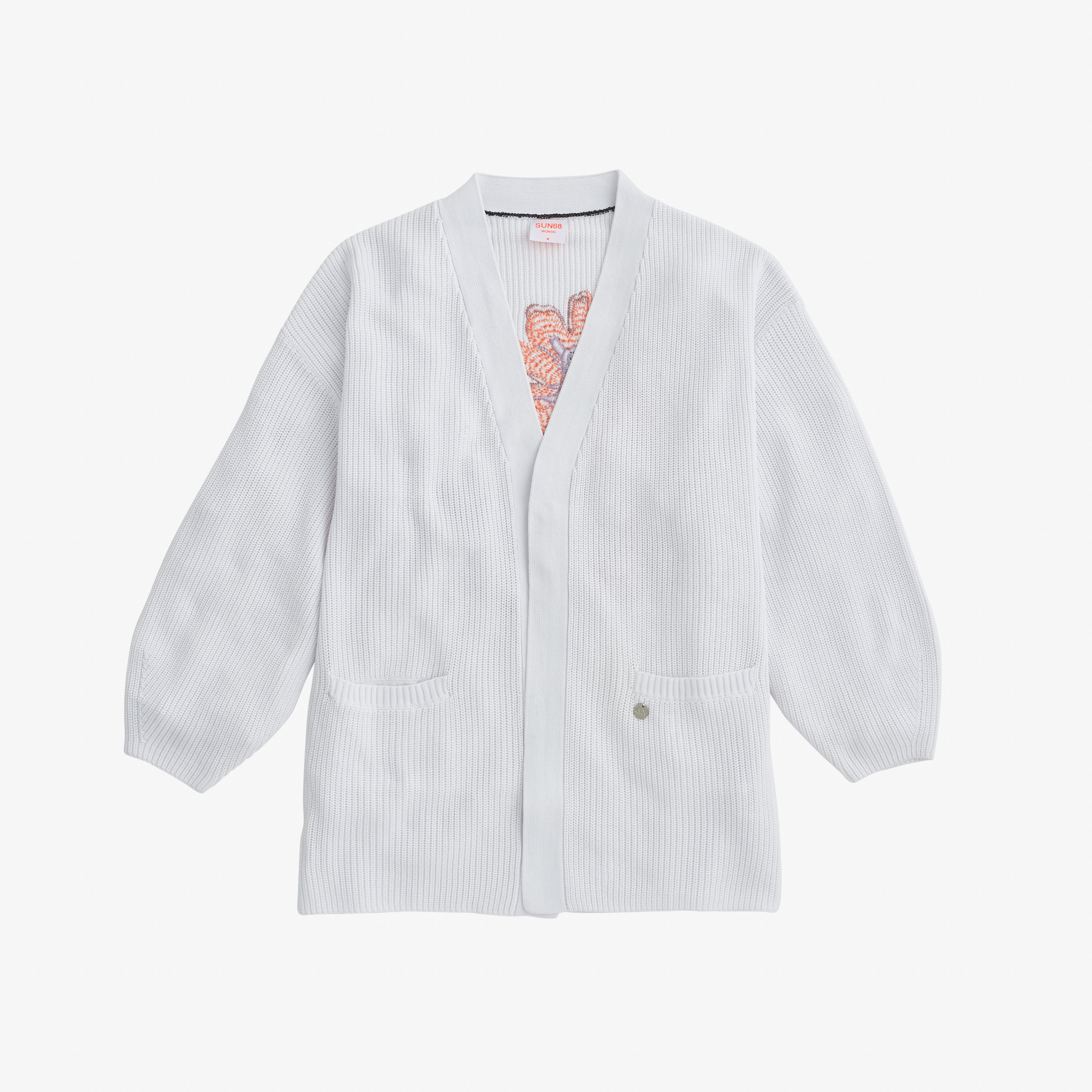 CARDIGAN TRICOT EMBRODERY BIANCO