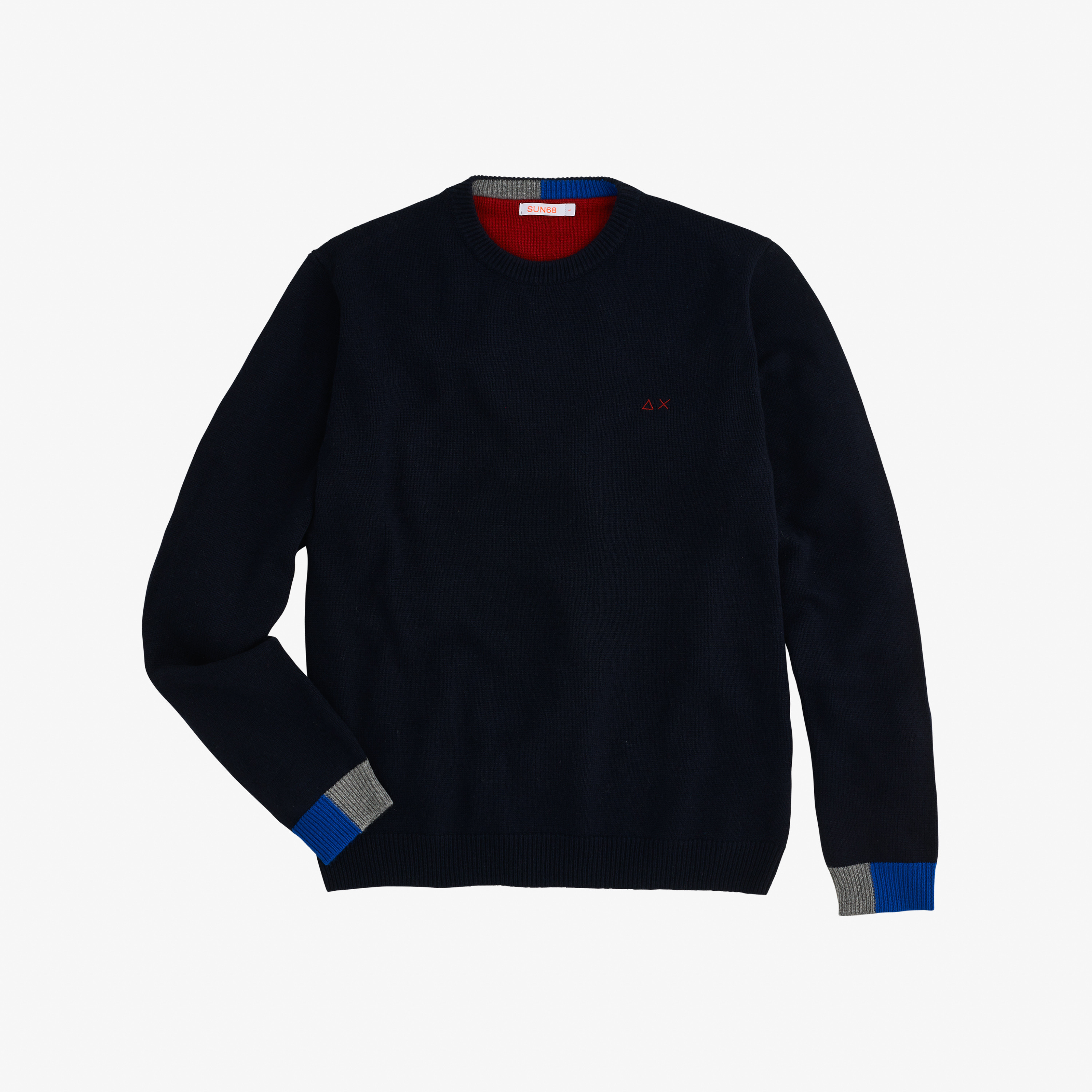 ROUND SOLID COLOR RIB NAVY BLUE
