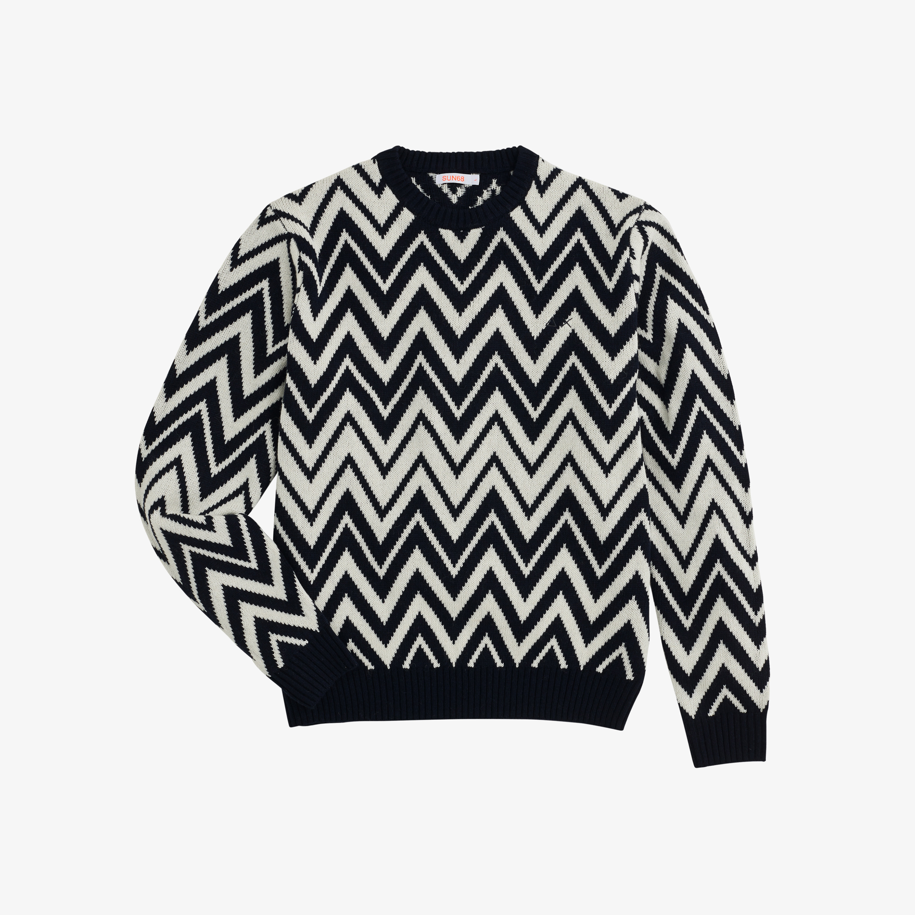 ROUND STRIPES NAVY BLUE/OFF WHITE