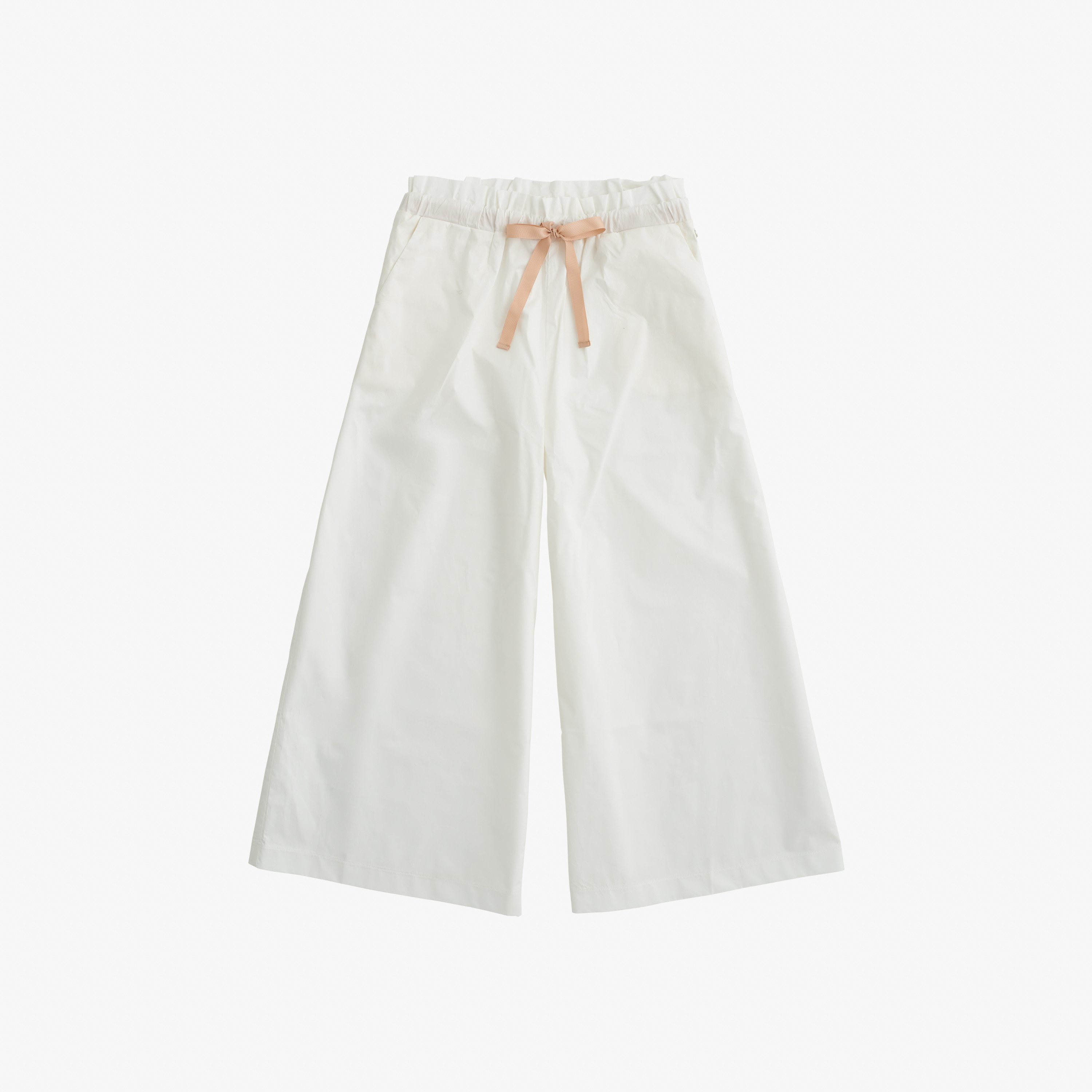 PANTS WIDE LEGS OFF WHITE