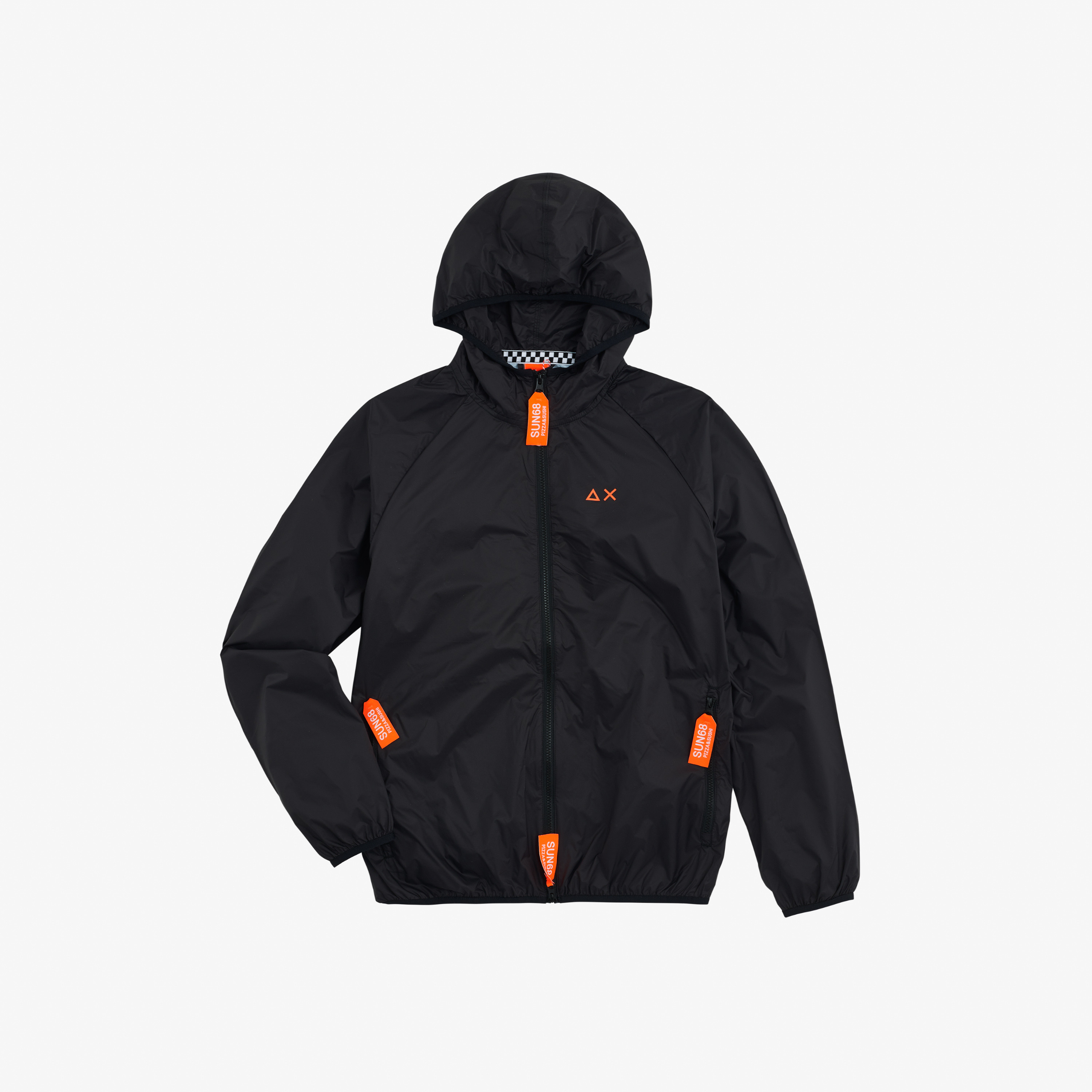 RAIN JACKET SOLID FANCY BLACK