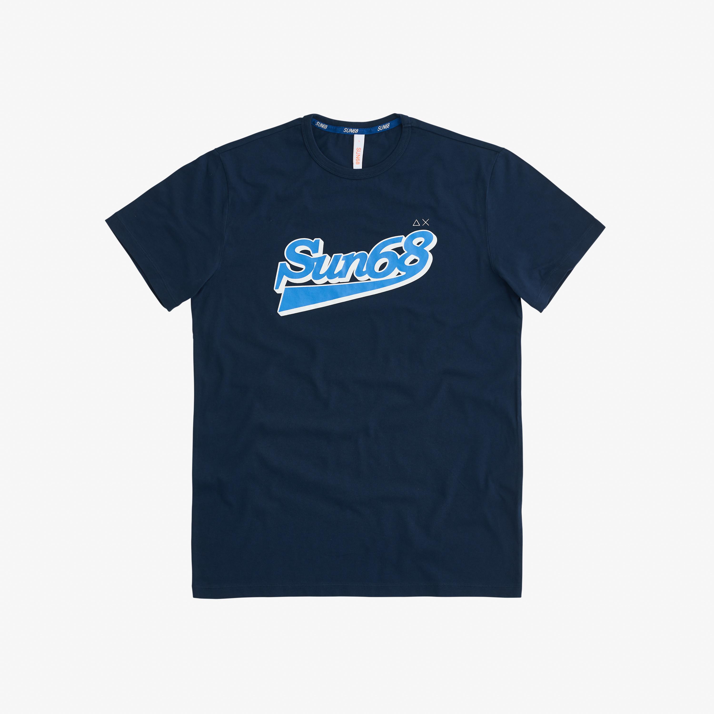 T-SHIRT BIG LOGO ON CHEST NAVY BLUE