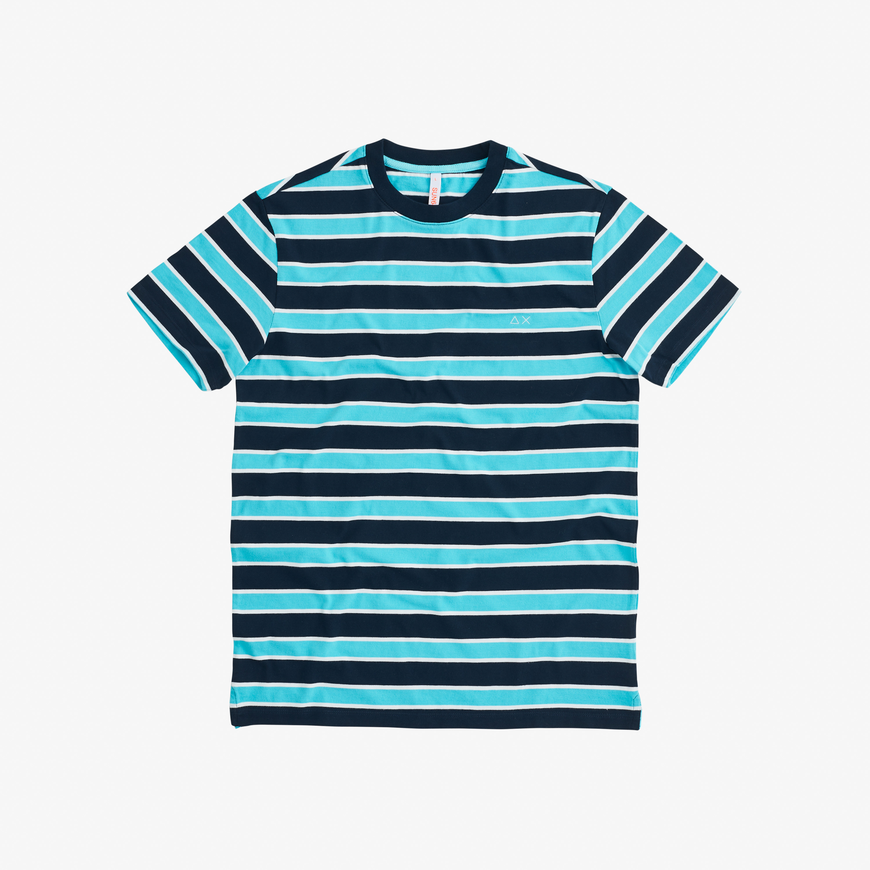 T-SHIRT ROUND FULL STRIPES NAVY BLUE/AZZURRO