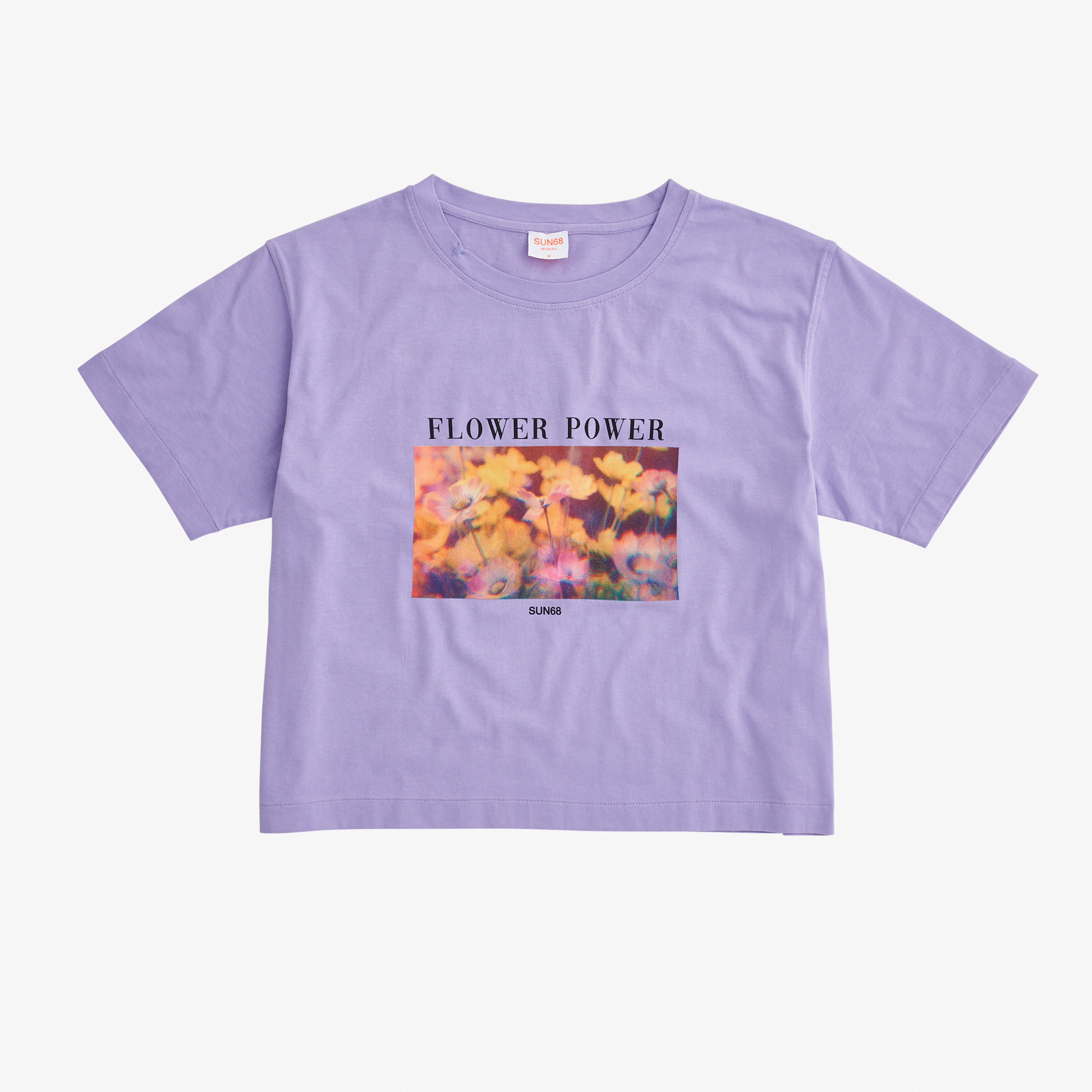 T-SHIRT OVER FANCY PRINT S/S LAVENDER