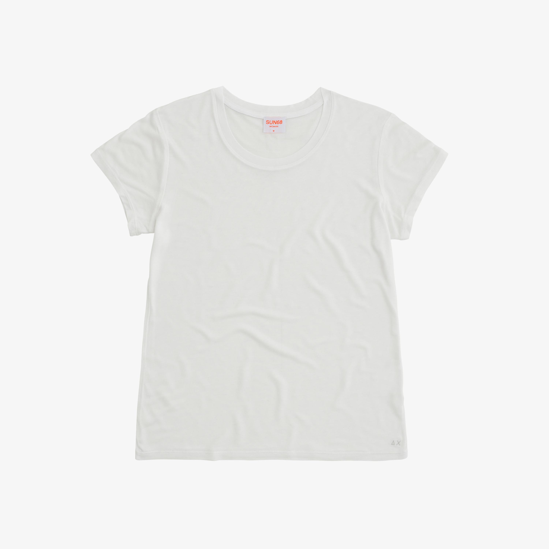 T-SHIRT ROUND S/S WHITE