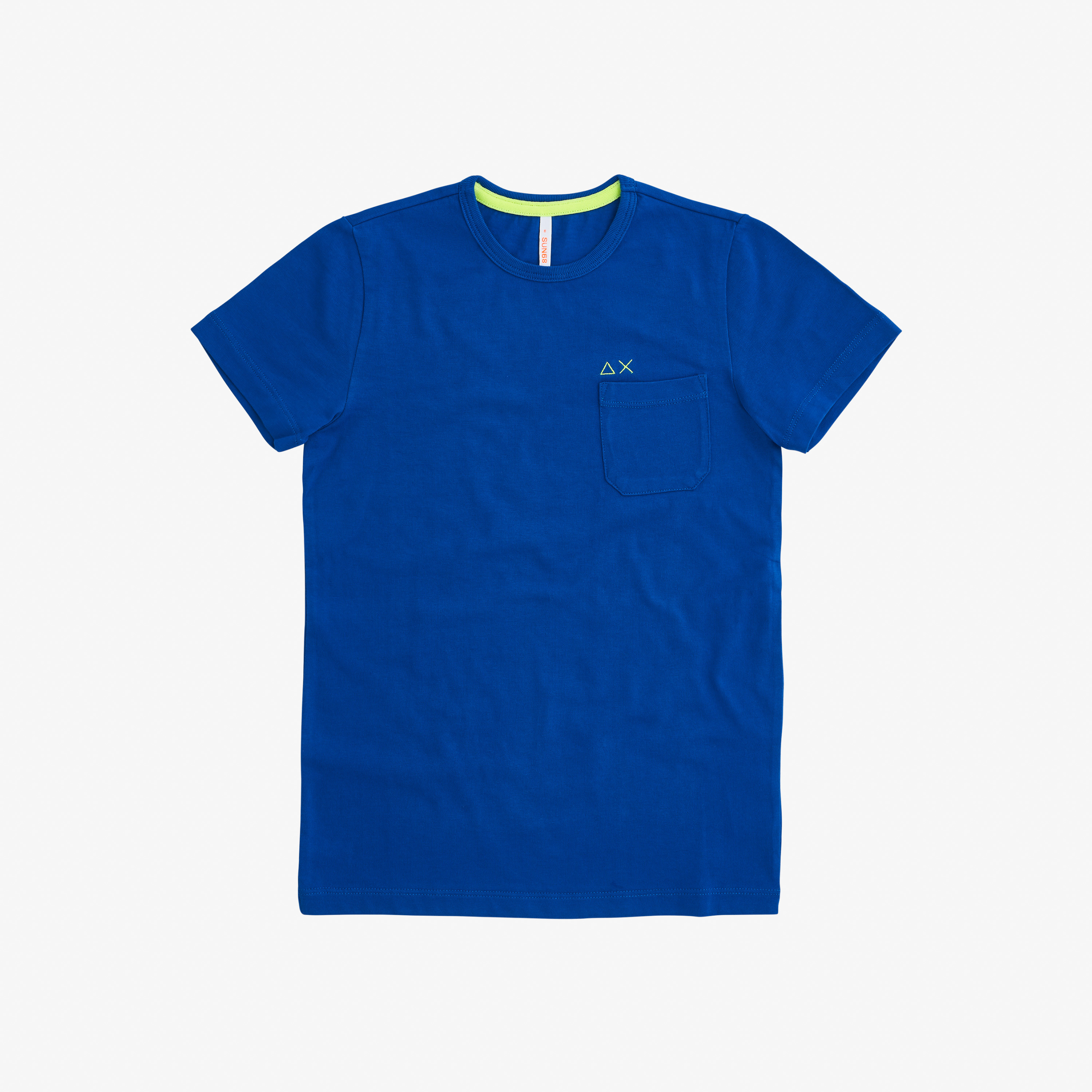 BOY'S T-SHIRT ROUND SOLID POCKET ROYAL