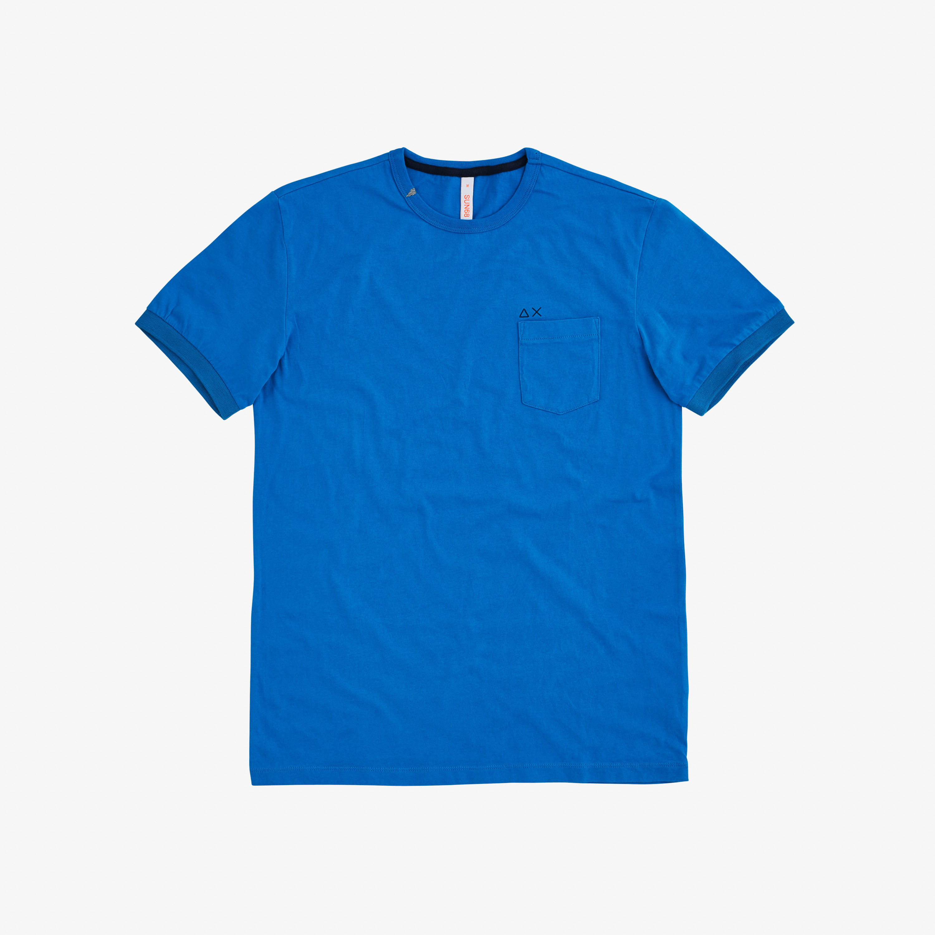T-SHIRT SOLID POCKET S/S TURQUOISE