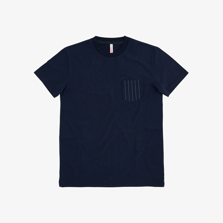 T-SHIRT POCKET S/S NAVY BLUE
