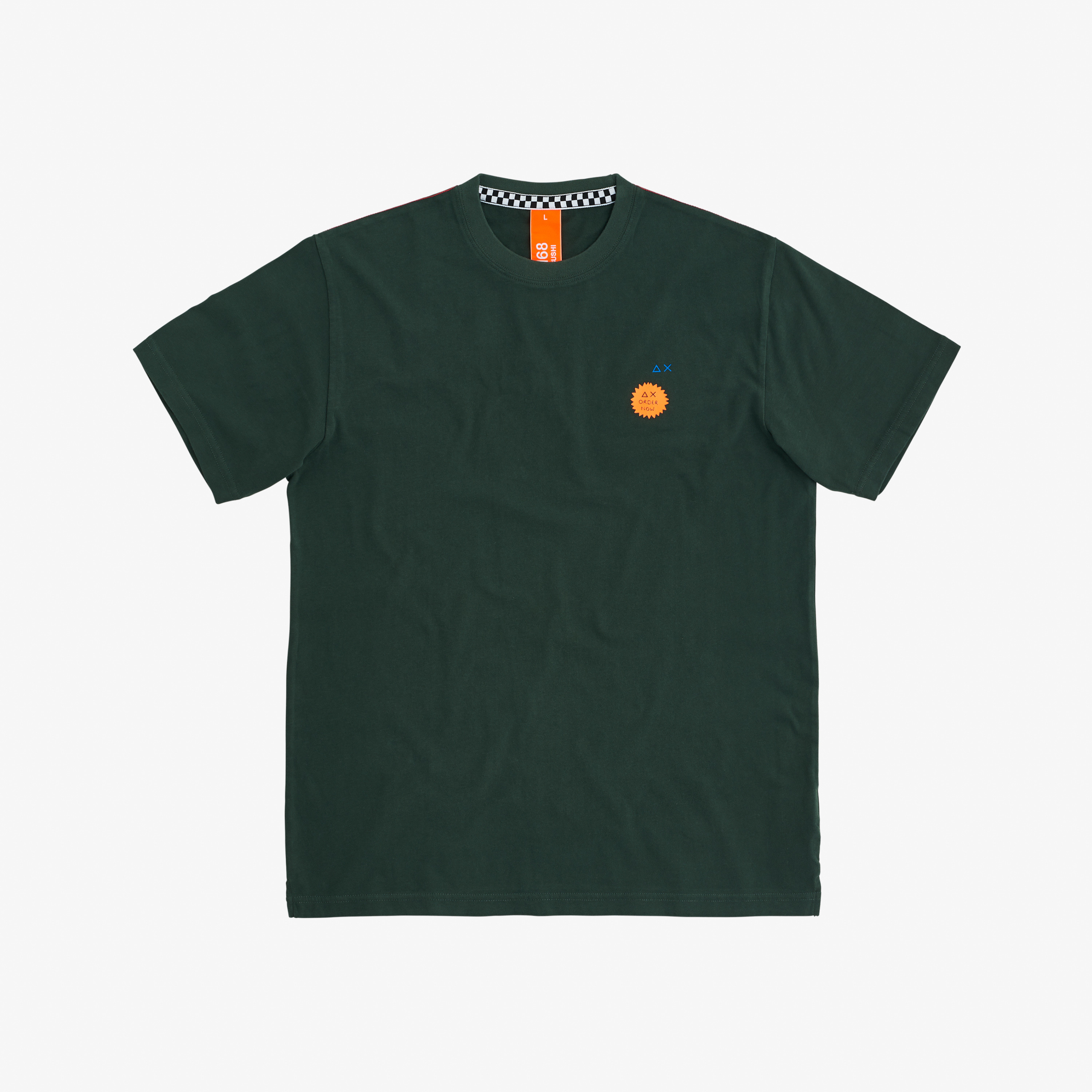 ROUND T-SHIRT WITH PRINT FANCY S/S VERDE SCURO