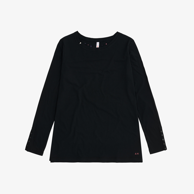 ROUND BASIC T-SHIRT L/S BLACK