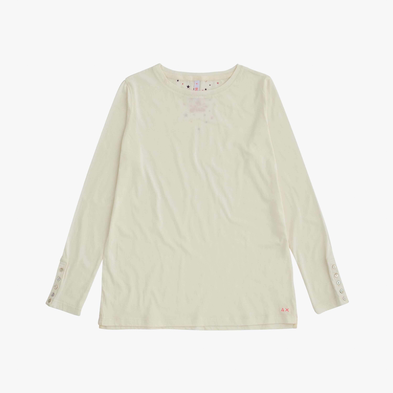 ROUND BASIC T-SHIRT L/S OFF WHITE