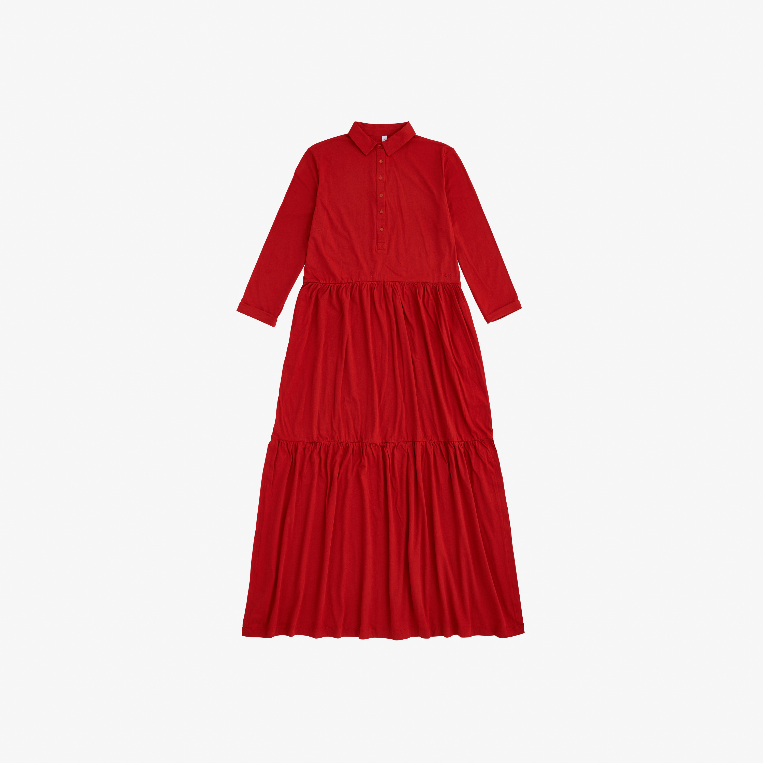 LONG DRESS L/S ROSSO FUOCO