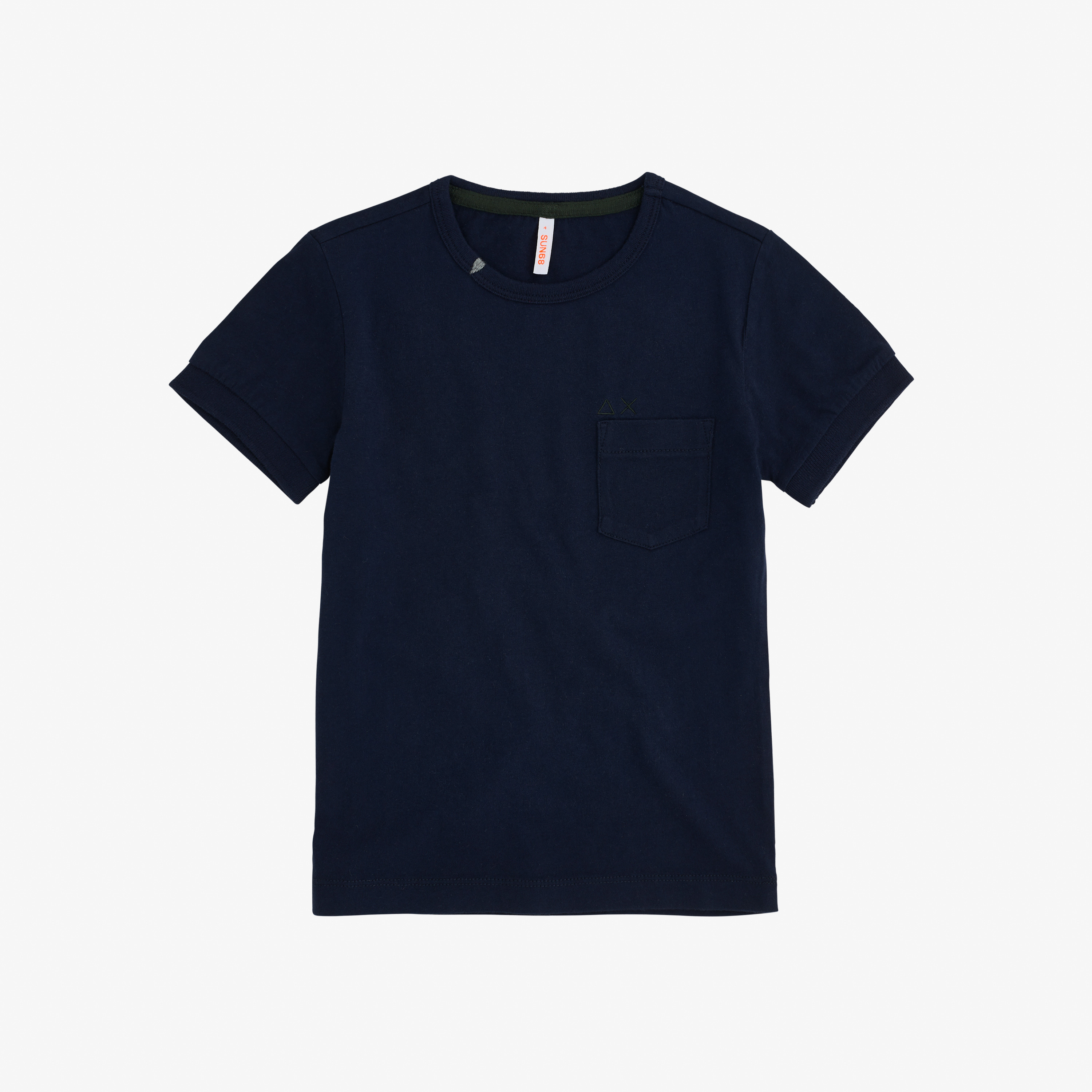 BOY'S T-SHIRT POCKET SOLID S/S NAVY BLUE