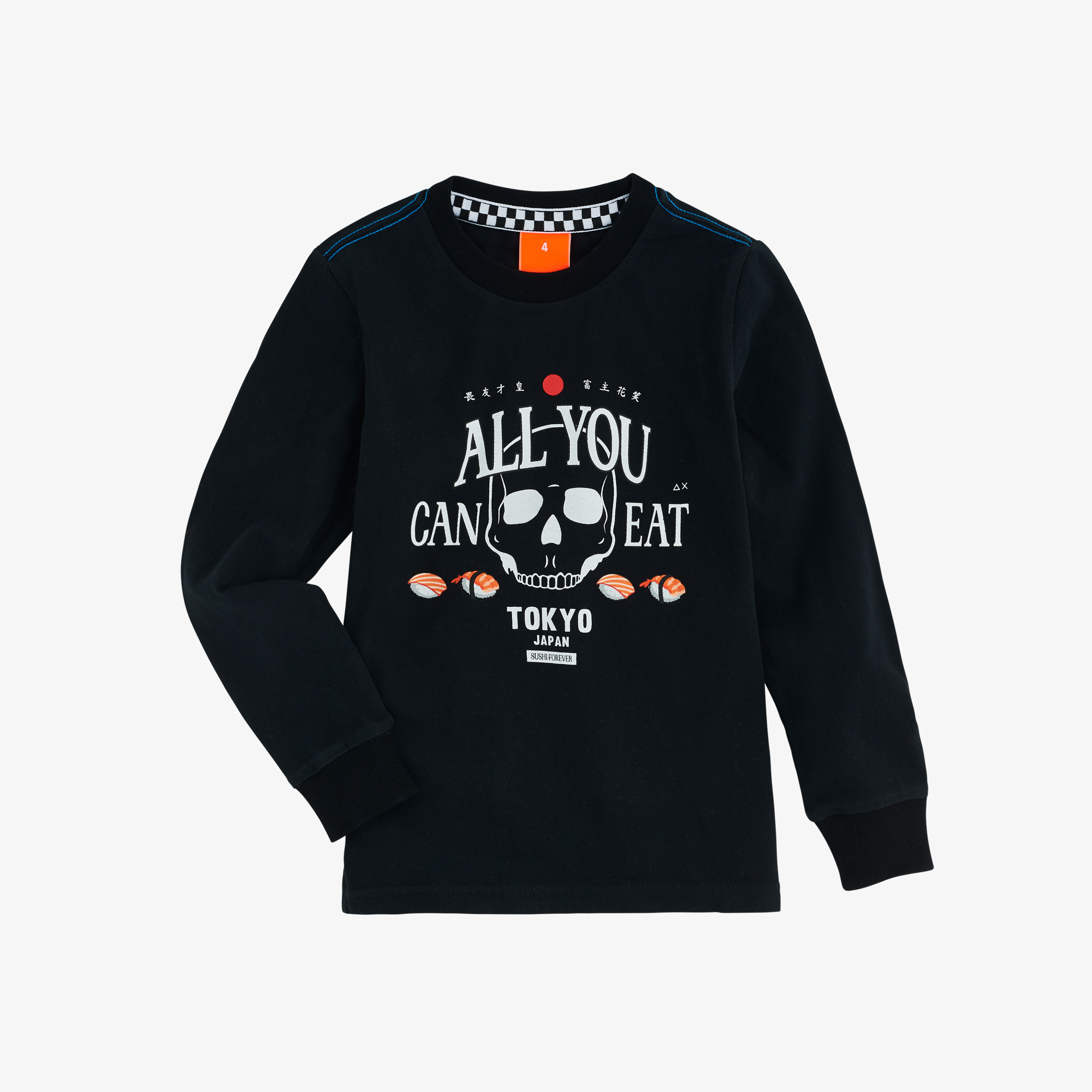 BOY'S T-SHIRT WITH PRINT L/S BLACK