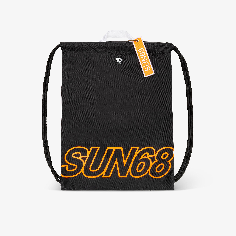 SHOE BAG BLACK/ORANGE FLUO