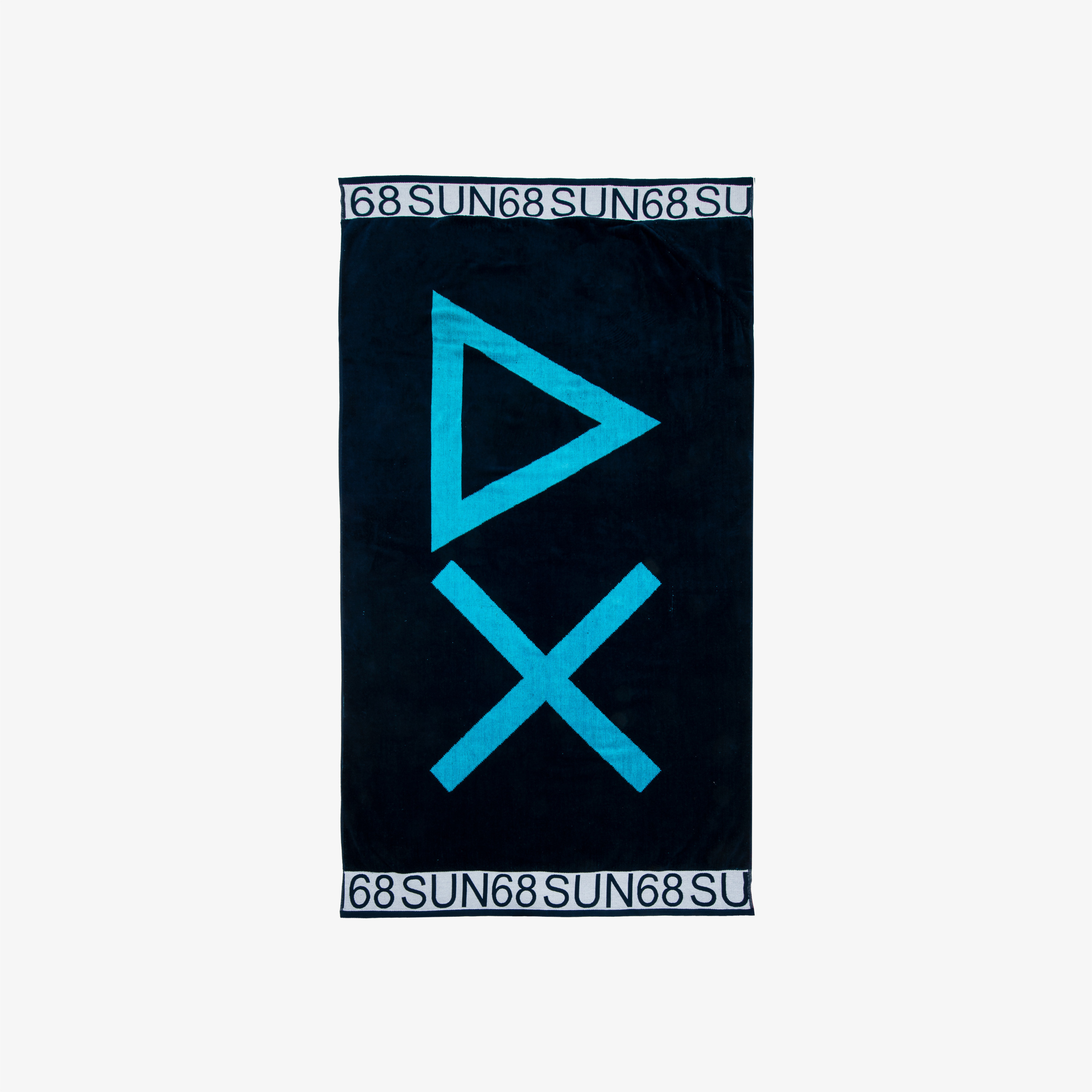 BEACH TOWEL LOGO NAVY BLUE/TURQUOISE