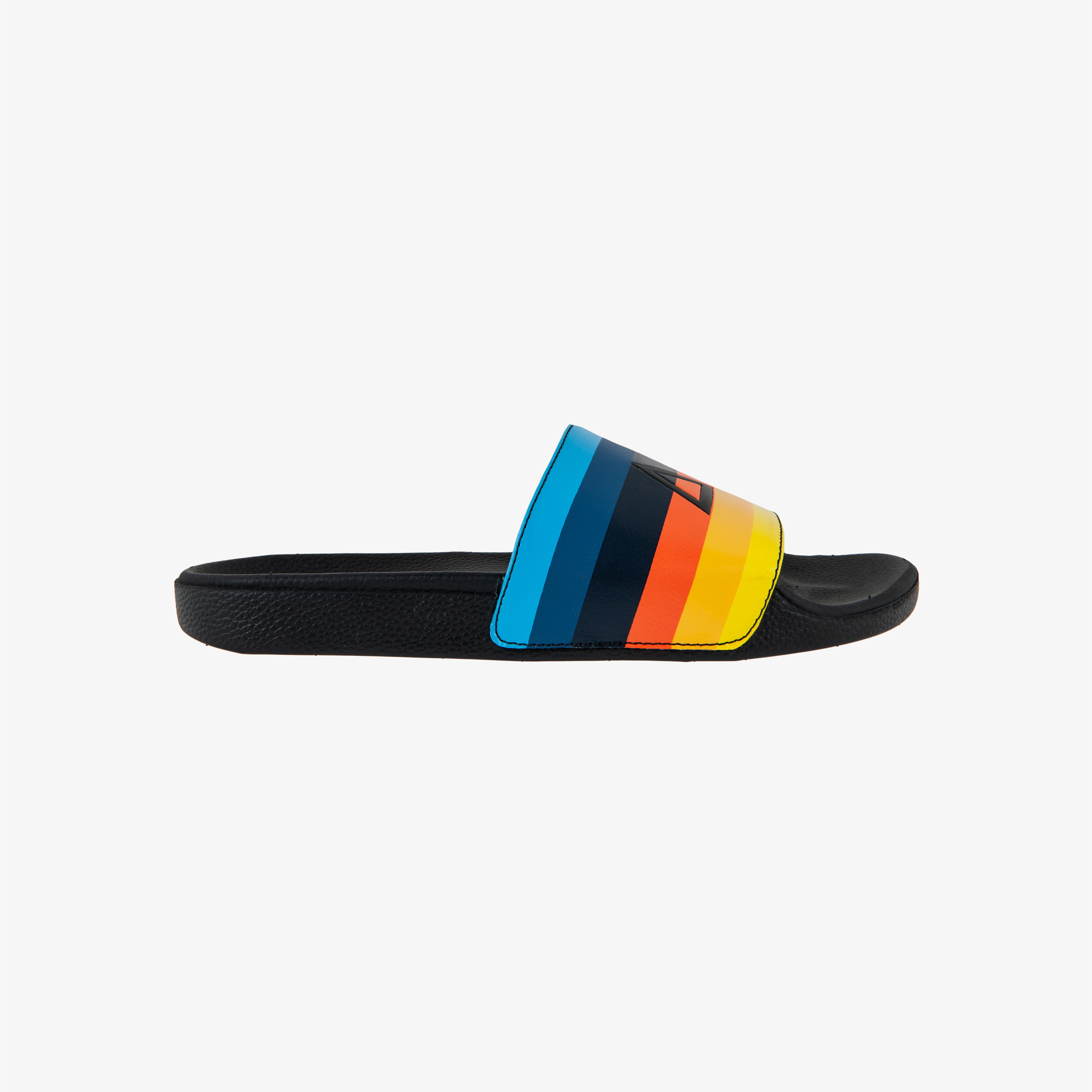 SLIPPERS BLACK/TURQUOISE