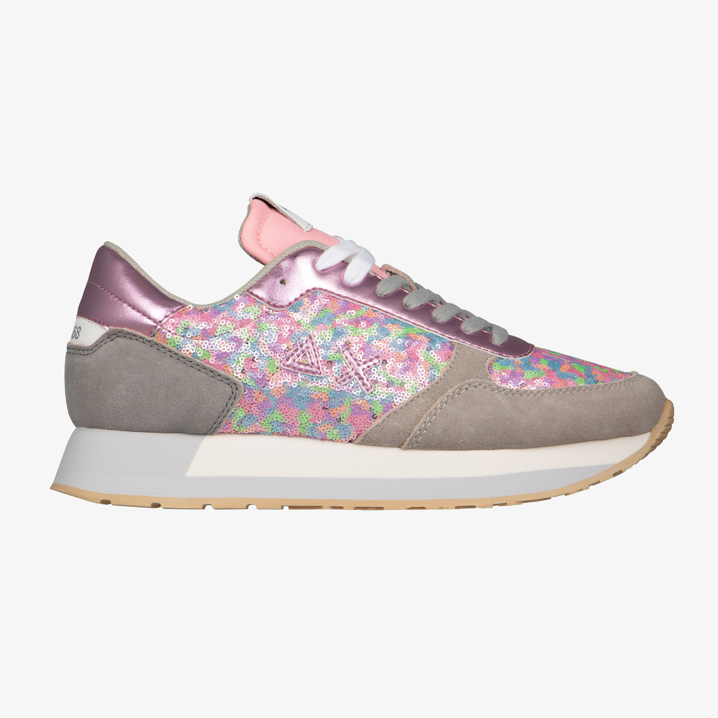 KATE PAILLETTES LIGHT GREY/PINK