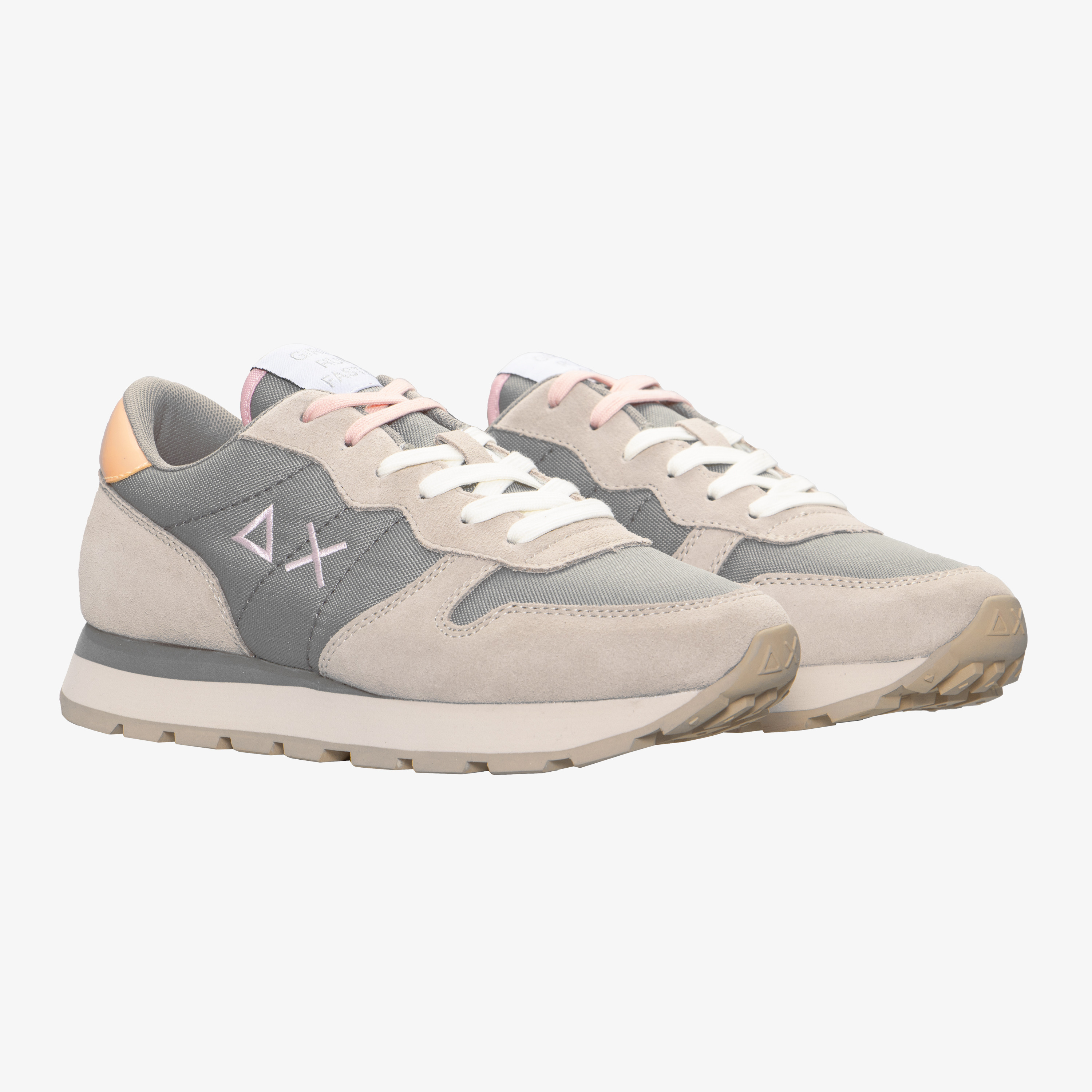 ALLY SOLID LIGHT GREY/PINK