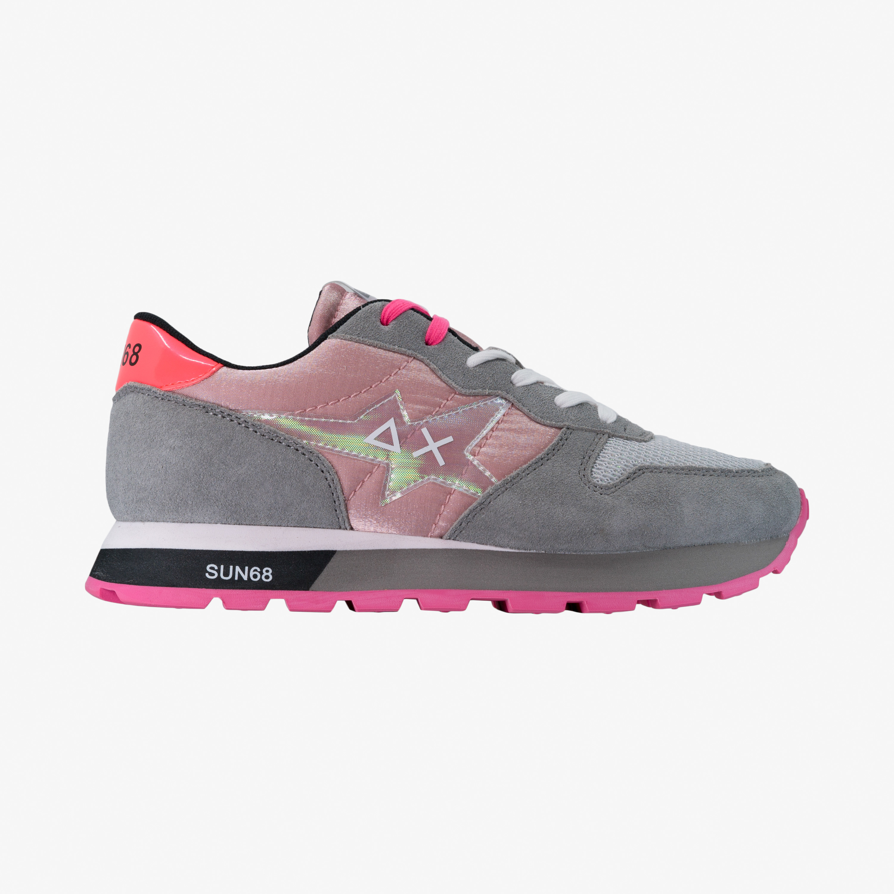 ALLY STAR GIRL TRASPARENT PINK/LIGHT GREY