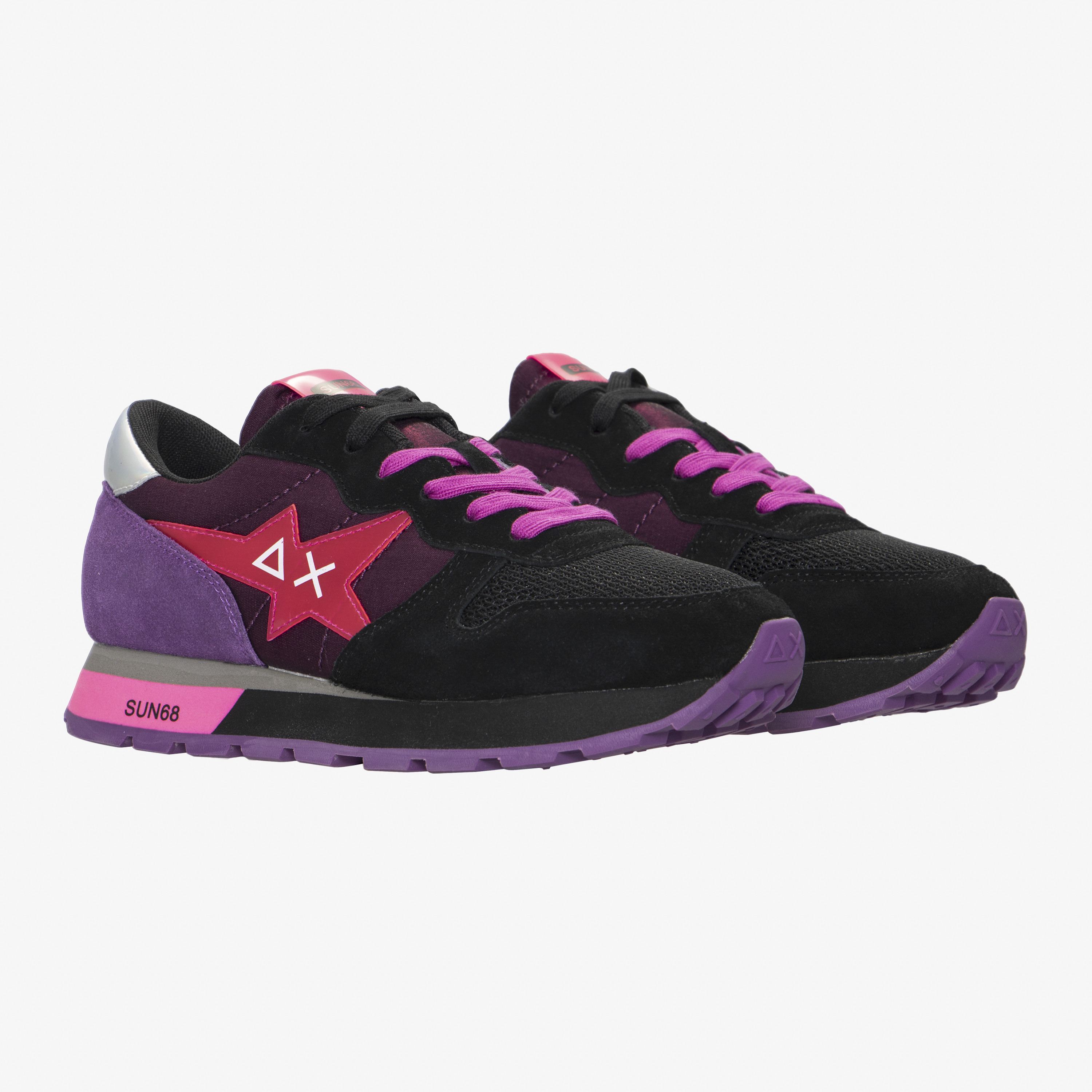 ALLY STAR GIRL TRASPARENT BLACK/FUXIA