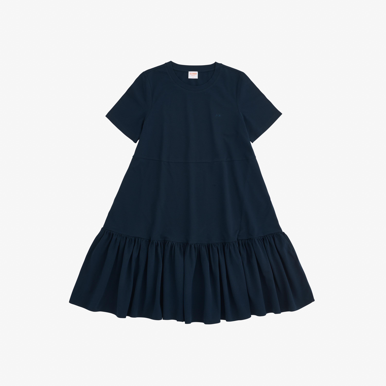 DRESS S/S EL. NAVY BLUE