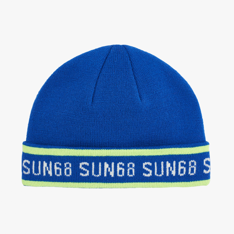 BOY'S CAP FLUO LOGO DEEP BLUE