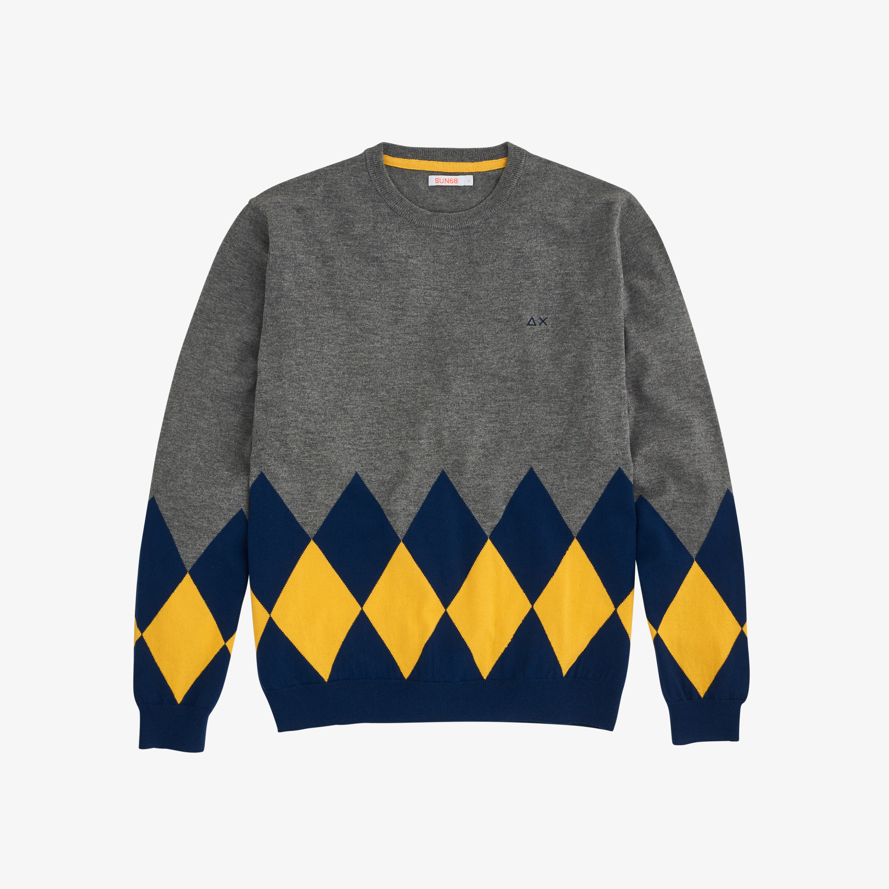 ROUND ARGYLE MEDIUM GREY