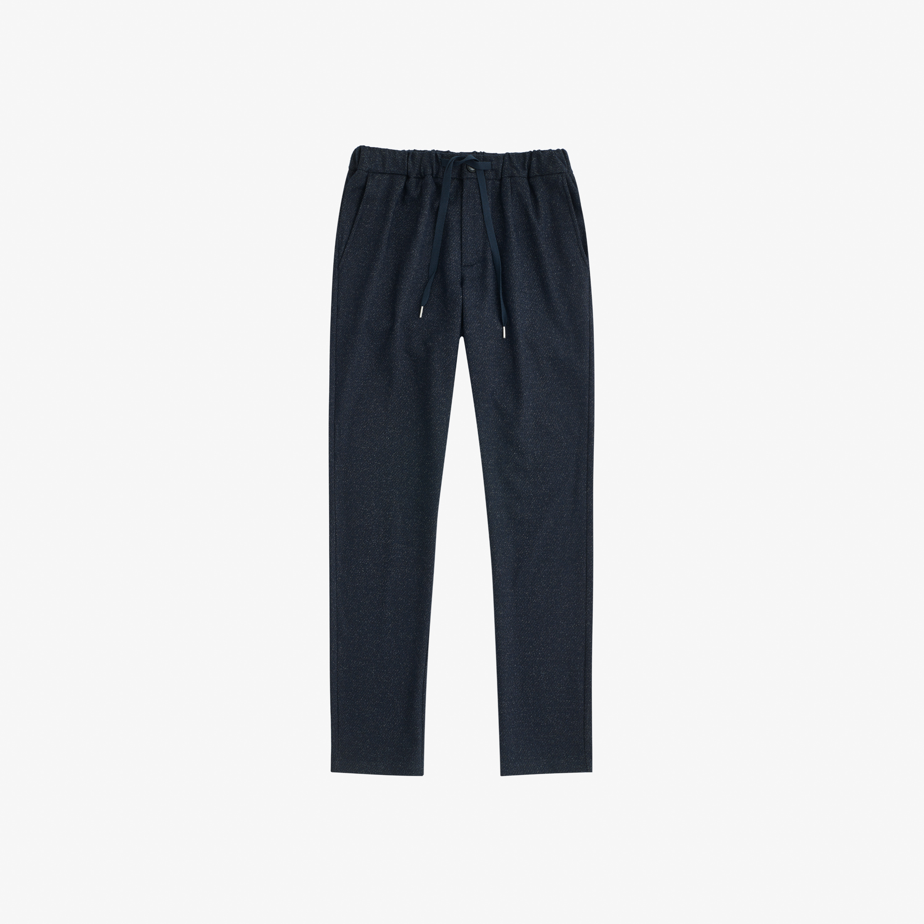 WOOL PANT COULISSE NAVY SCURO
