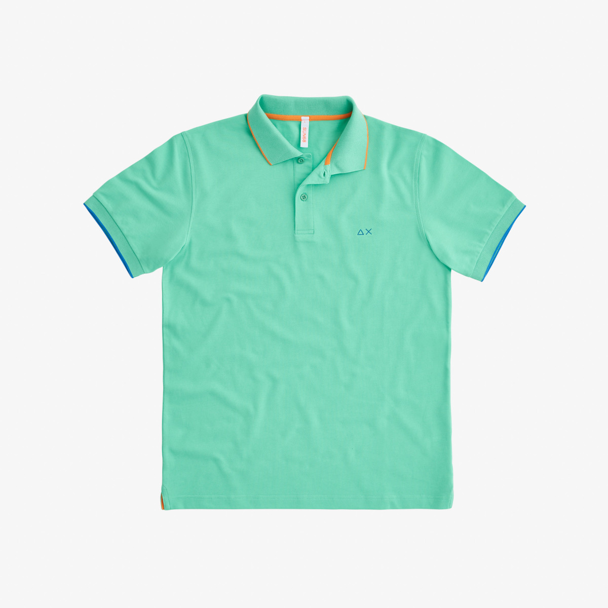 POLO SMALL STRIPES ON COLLAR EL. VERDE CHIARO