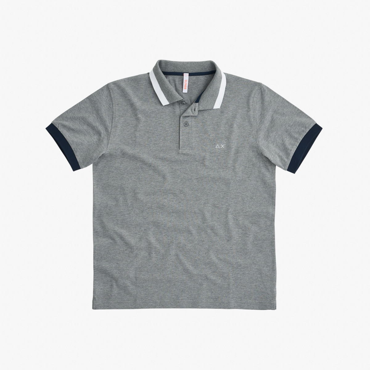 POLO BIG STRIPES ON COLLAR EL. GRIGIO MEDIO