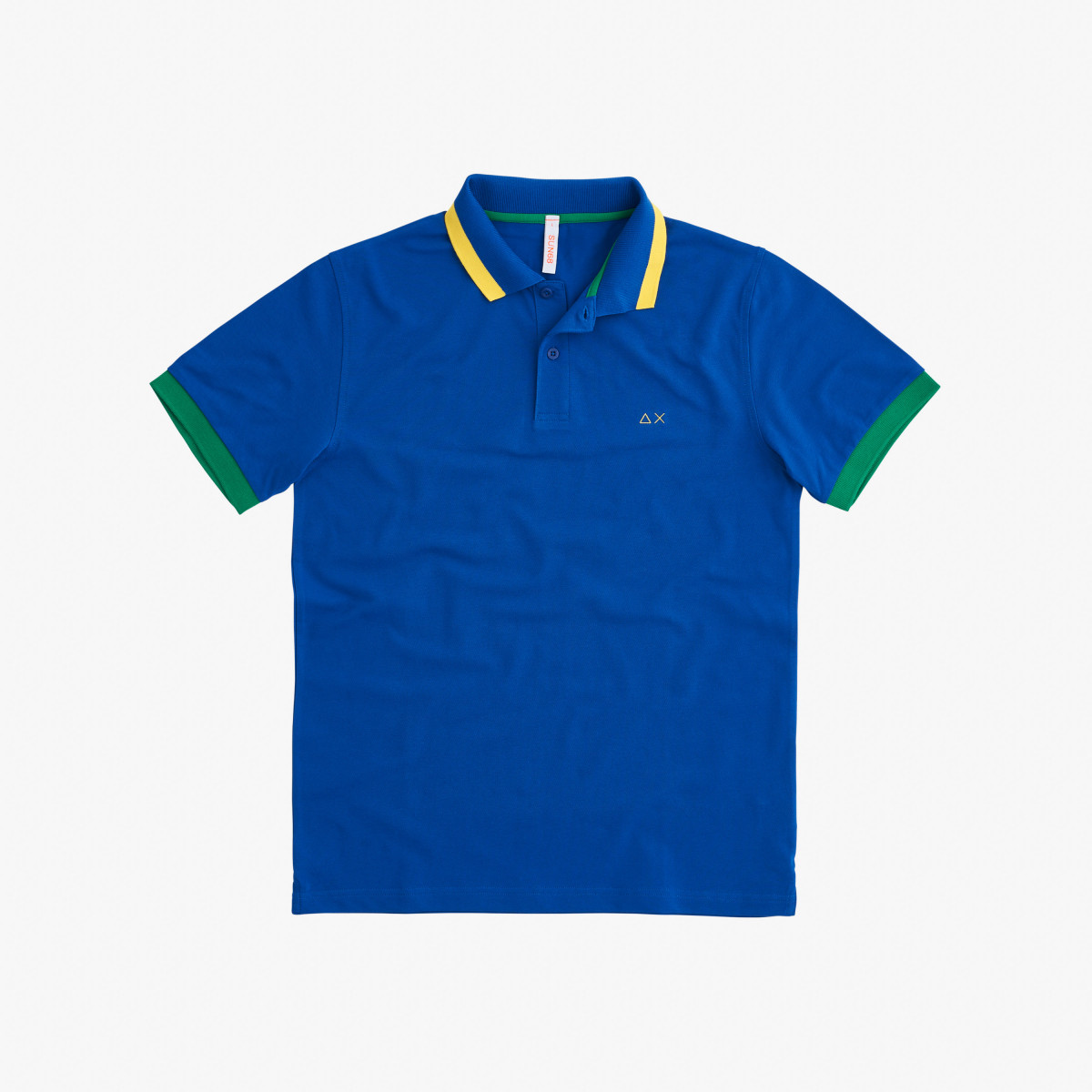 POLO BIG STRIPES ON COLLAR EL. ROYAL