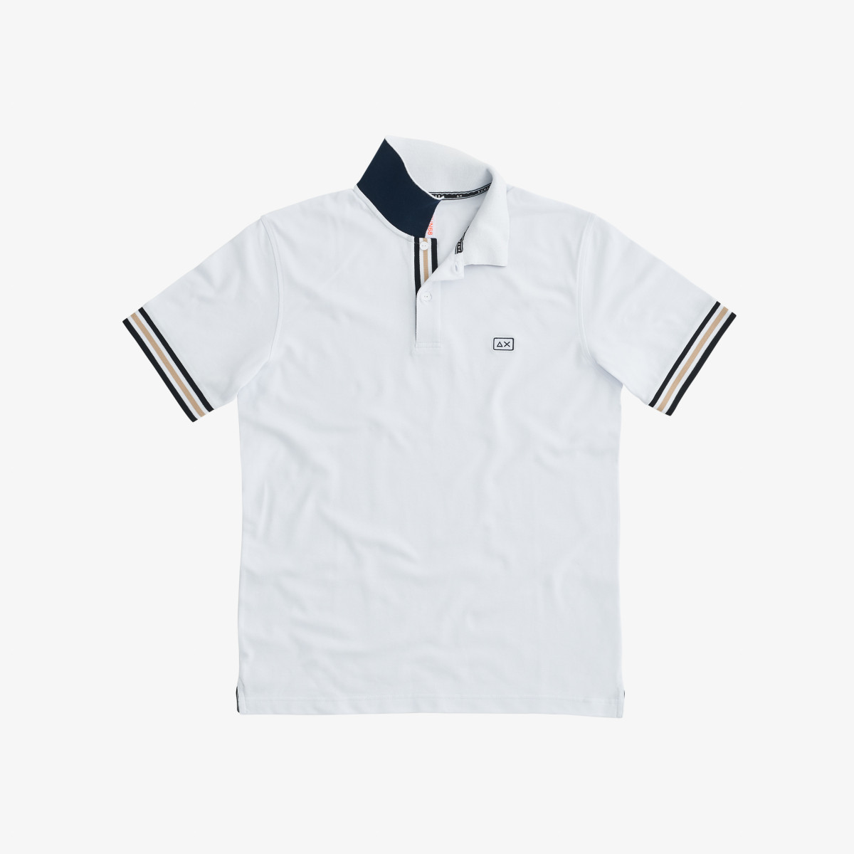 POLO STRIPES ON FRONT PLACKET EL. WHITE