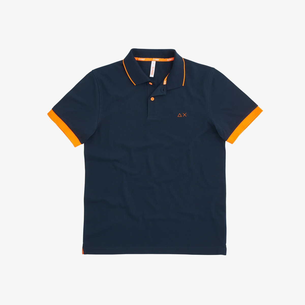 POLO SMALL STRIPES FLUO EL. NAVY BLUE