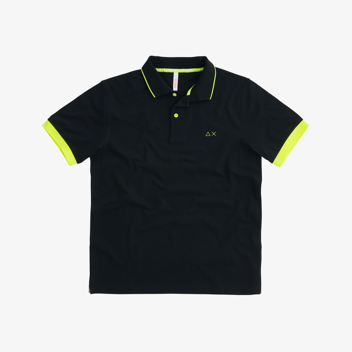 POLO SMALL STRIPES FLUO EL. NERO