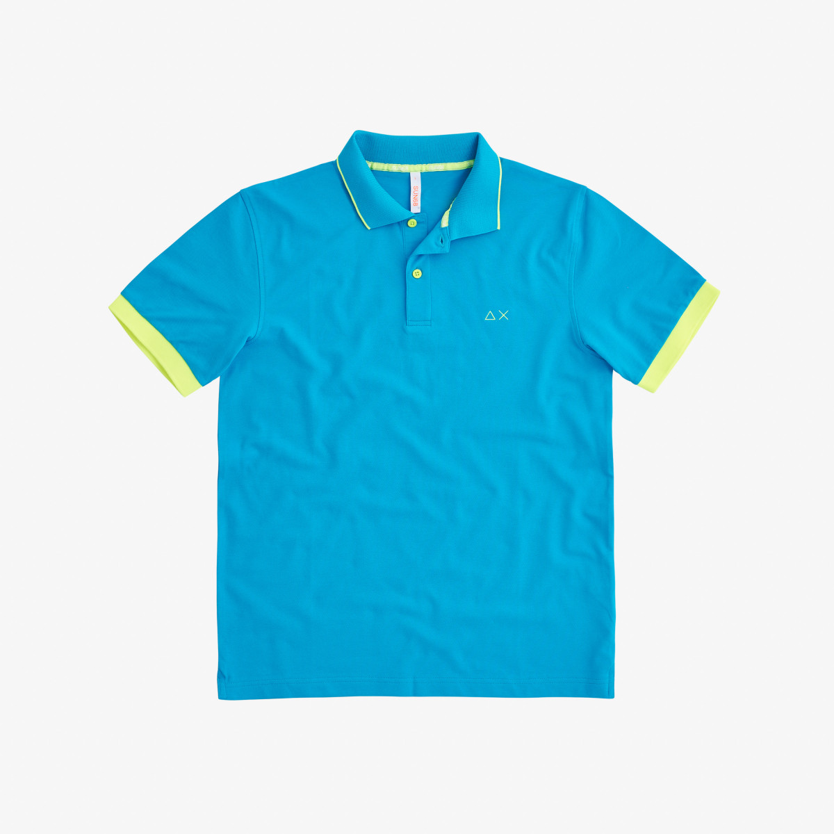 POLO SMALL STRIPES FLUO EL. TURCHESE