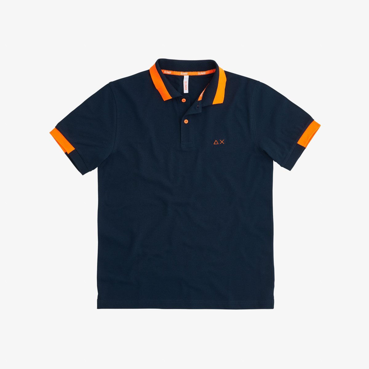 POLO BIG STRIPES FLUO EL. NAVY BLUE