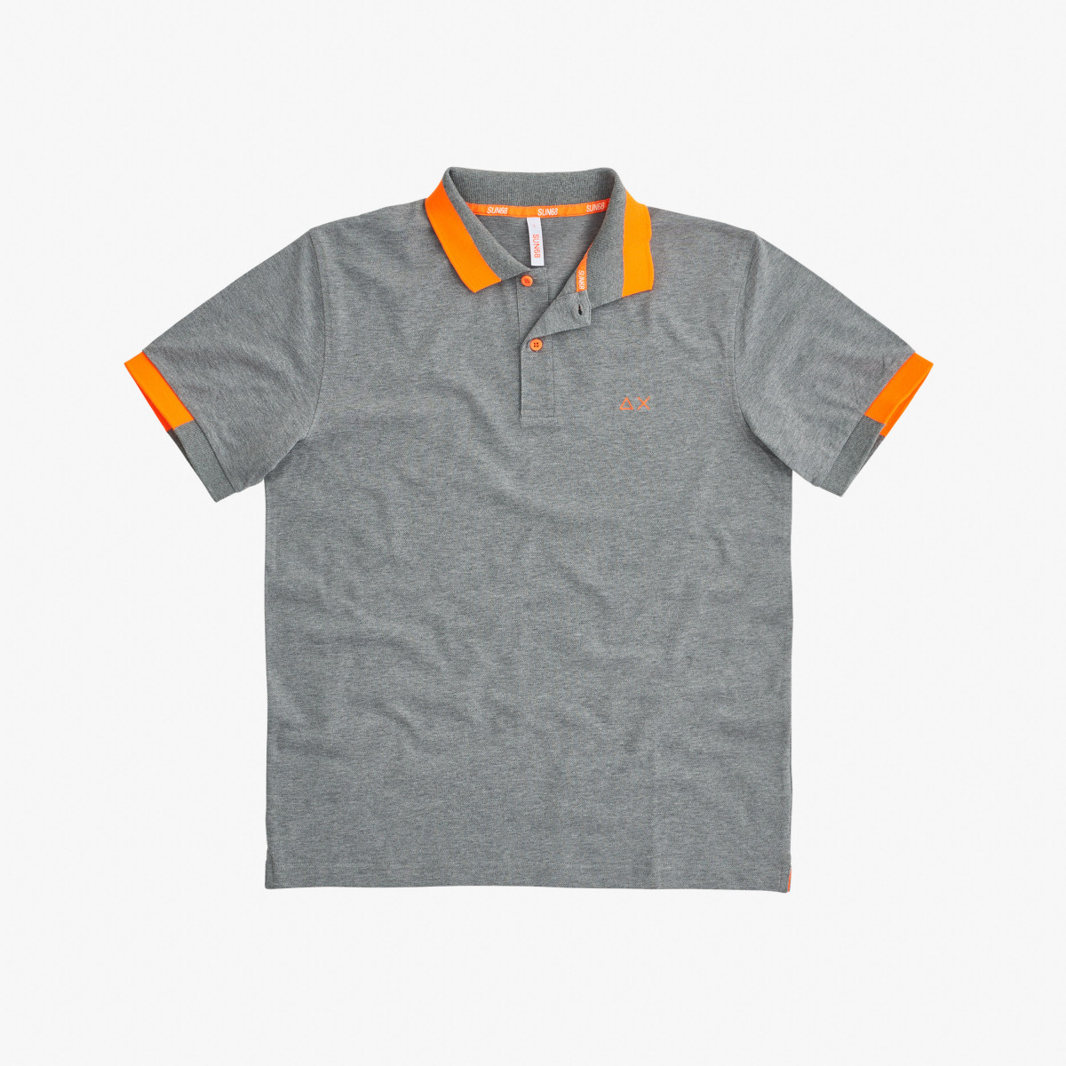 POLO BIG STRIPES FLUO EL. MEDIUM GREY