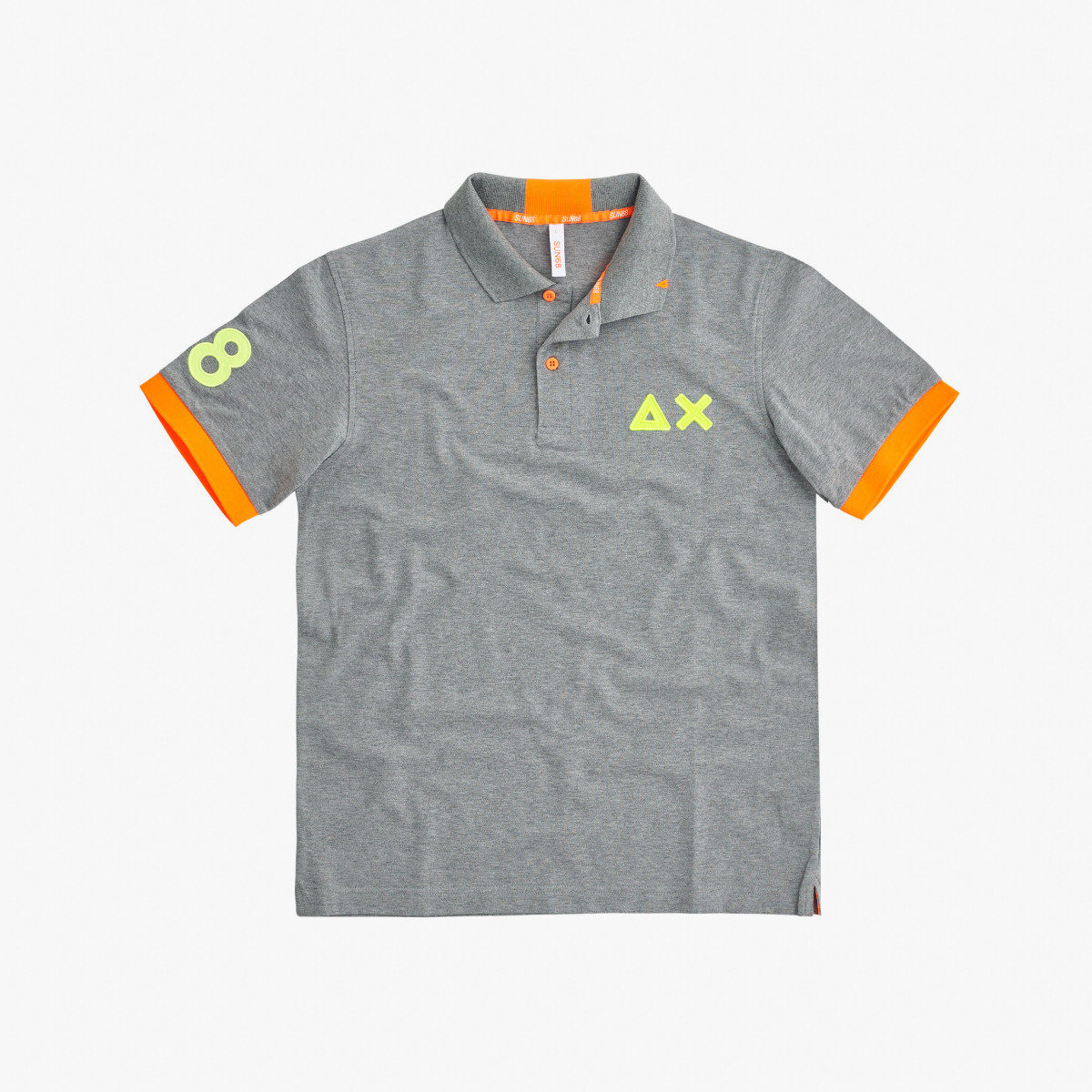POLO LOGO FLUO EL. MEDIUM GREY