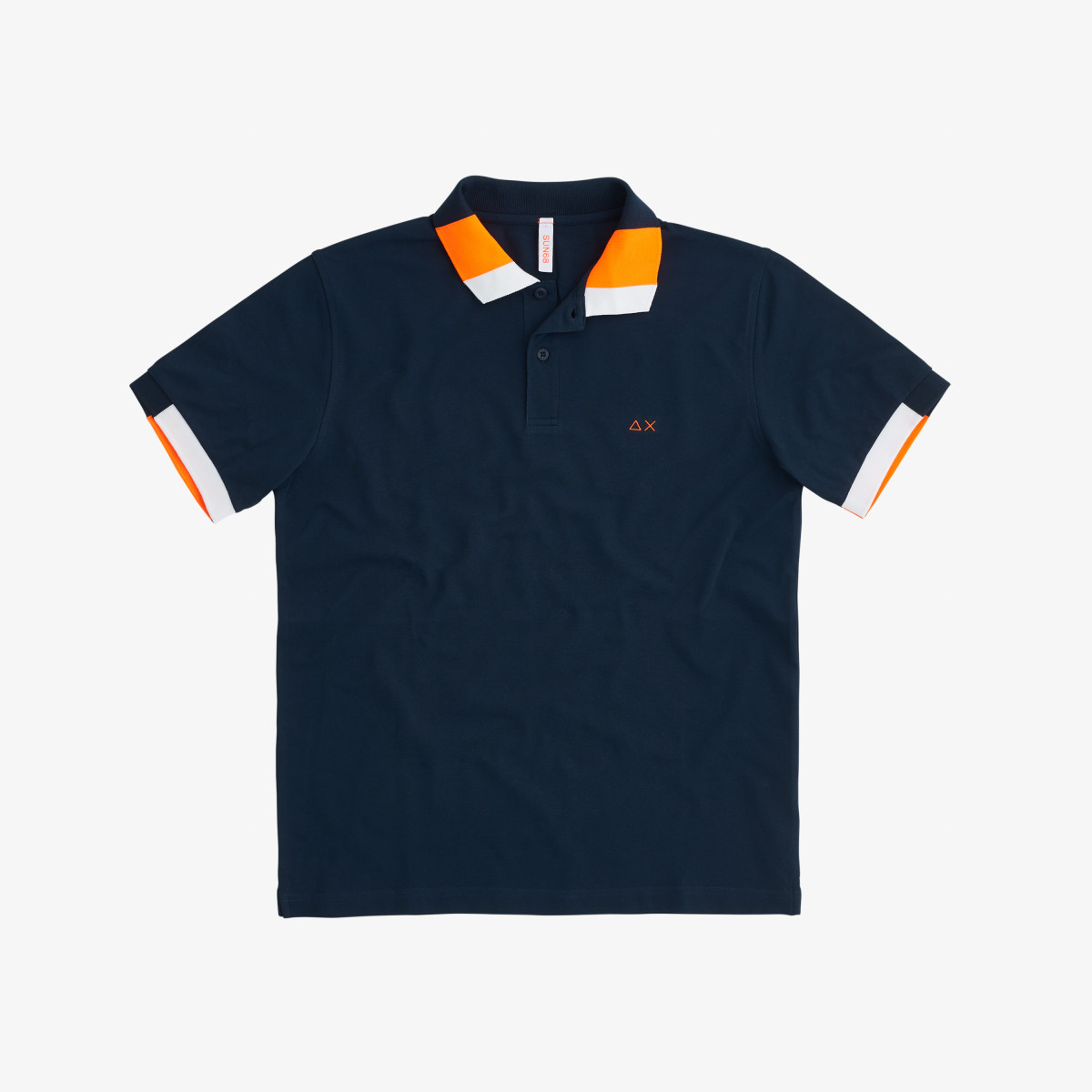 POLO FLUO MULTICOLOR EL. NAVY BLUE