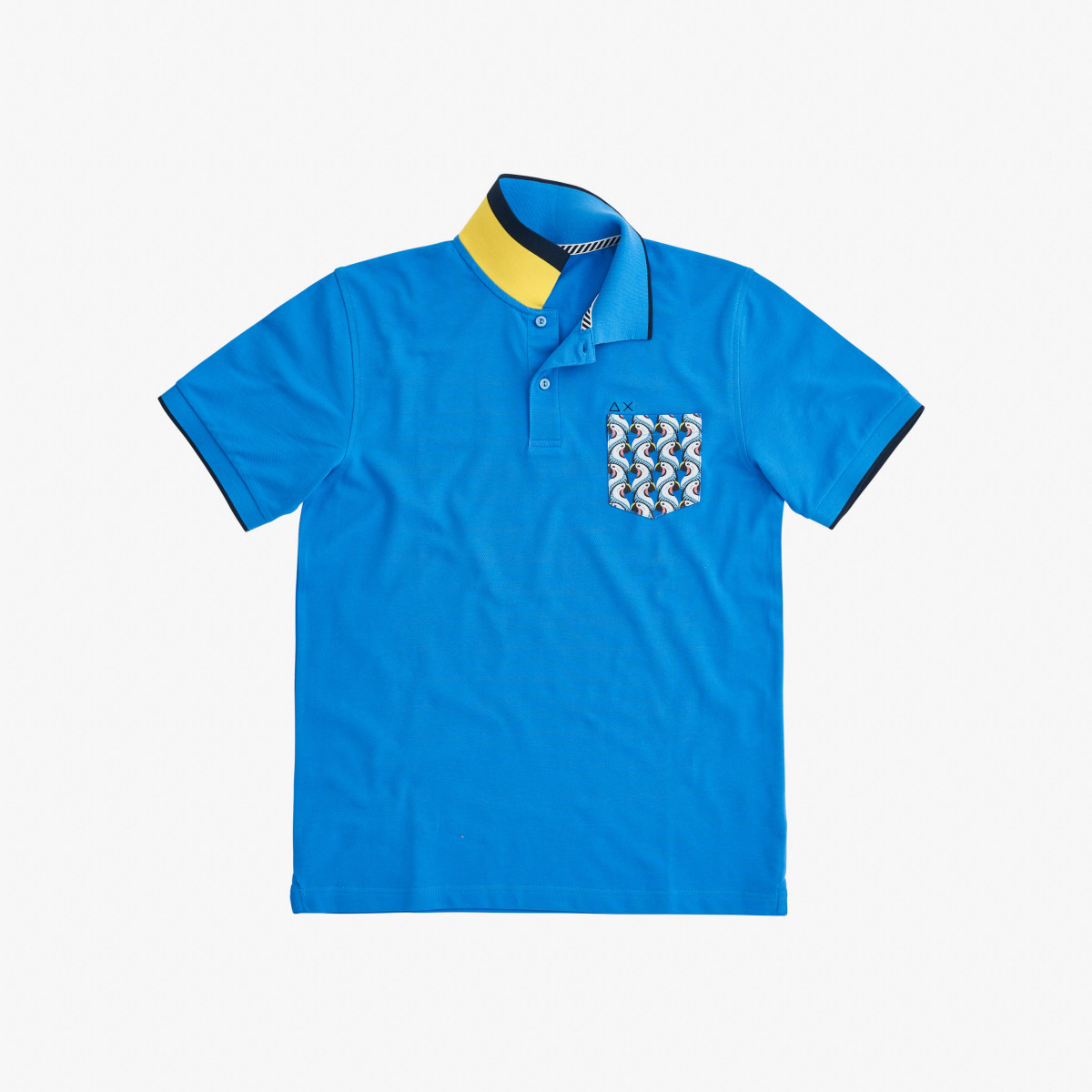 POLO PRINT POCKET EL. BLUE