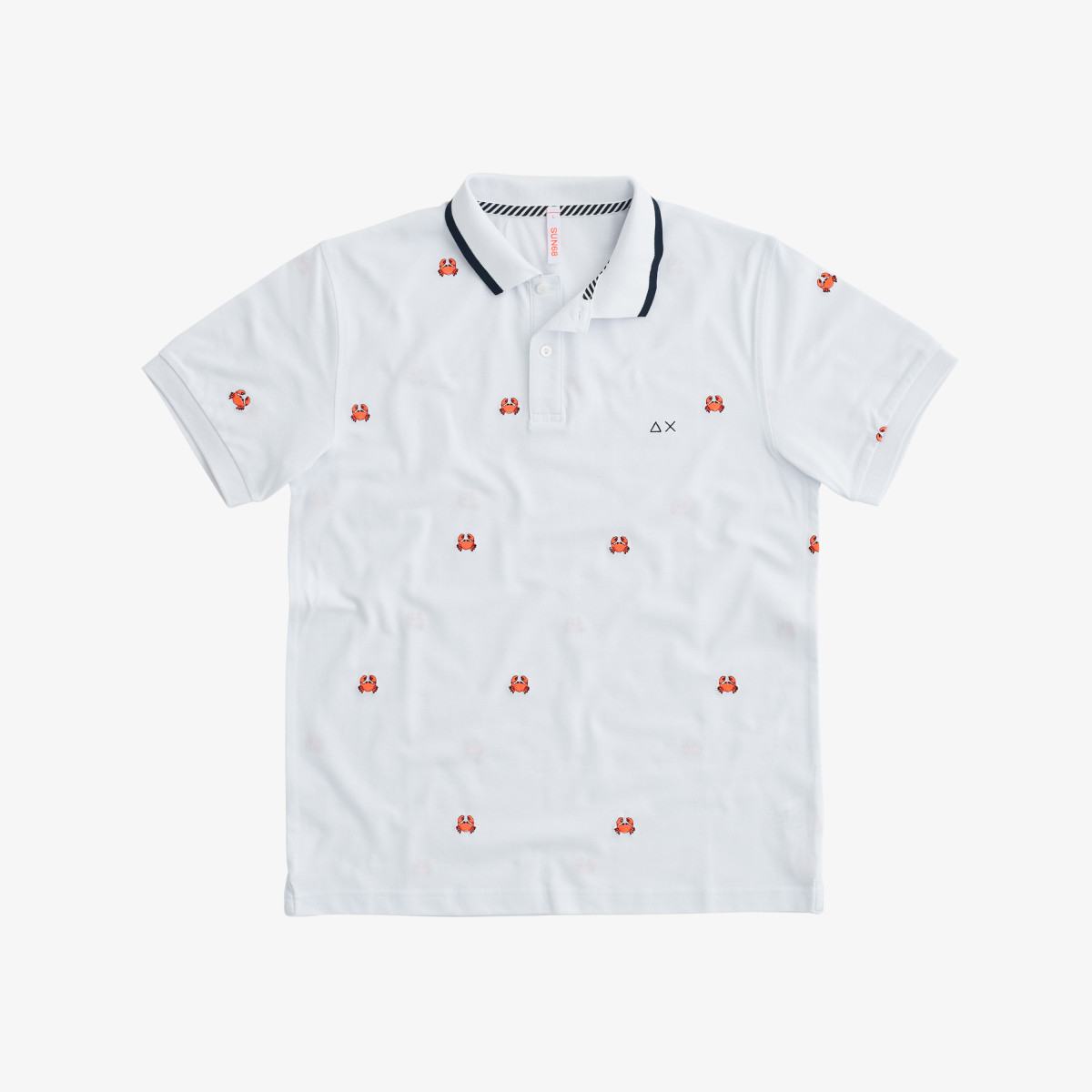 POLO FULL EMBRODERY EL. BIANCO