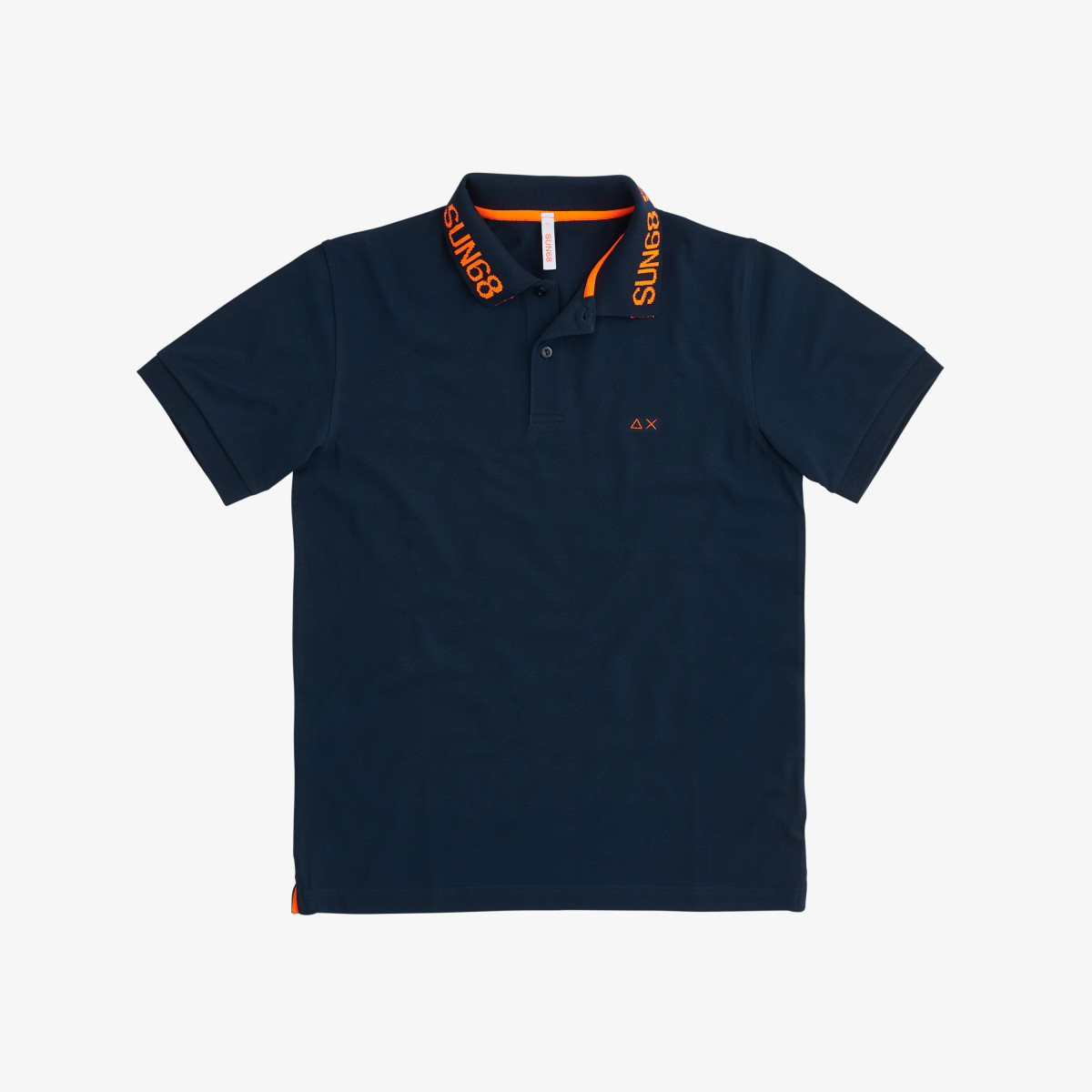 POLO INTARSIA COLLAR EL. NAVY BLUE