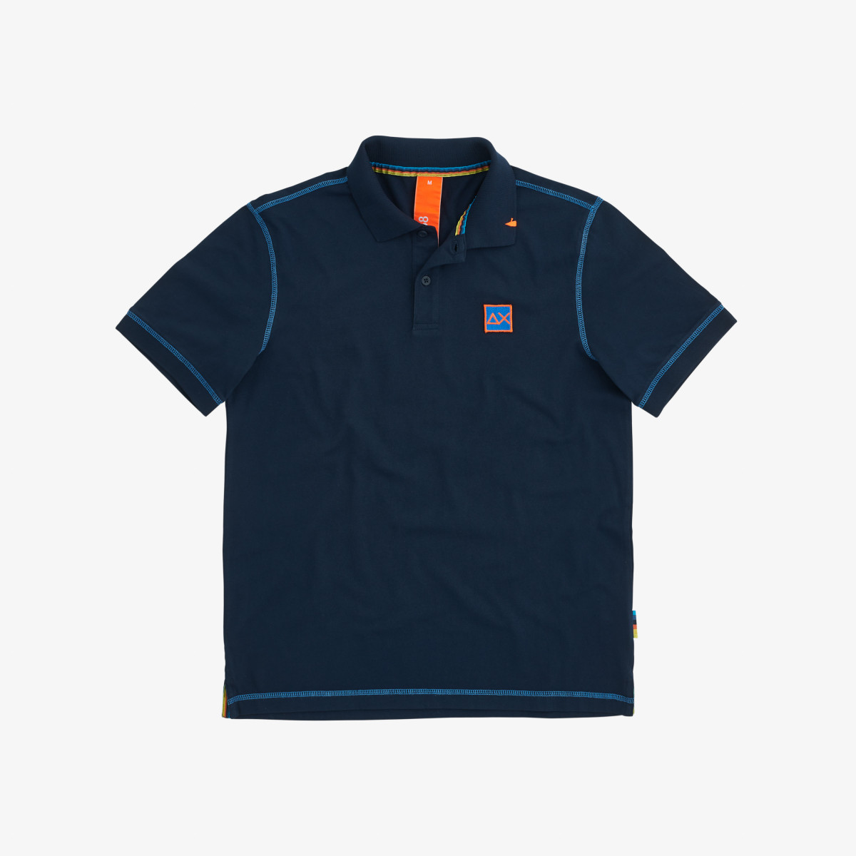 POLO COLD DYE CONTRAST STITCHING NAVY BLUE