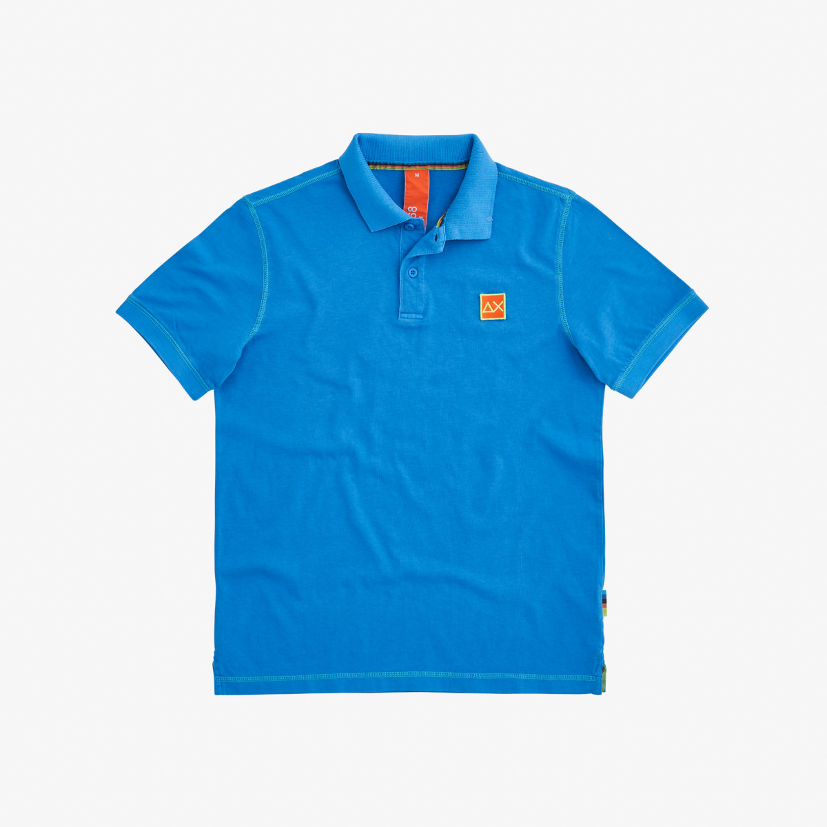 POLO COLD DYE CONTRAST STITCHING BLUE