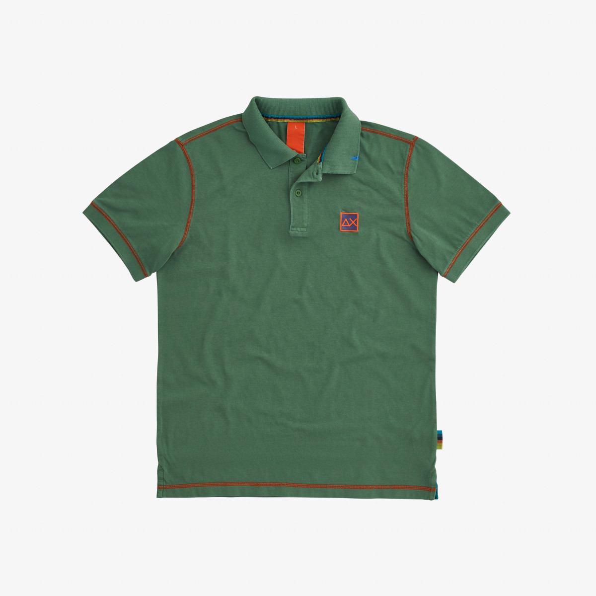 POLO COLD DYE CONTRAST STITCHING SAGE GREEN